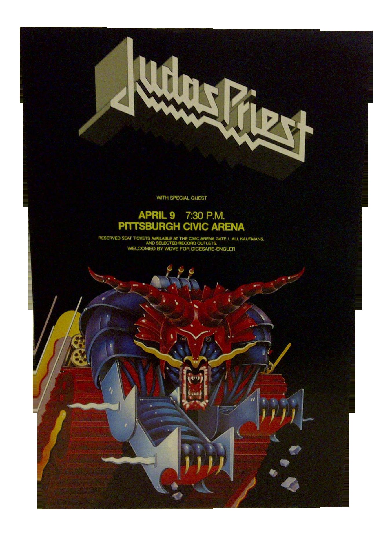 Judas Priest Concert Poster Pittsburgh 1984 Chairish