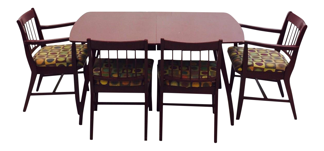 Vintage MidCentury Drexel Dining Table   Chairs Chairish - Drexel dining table