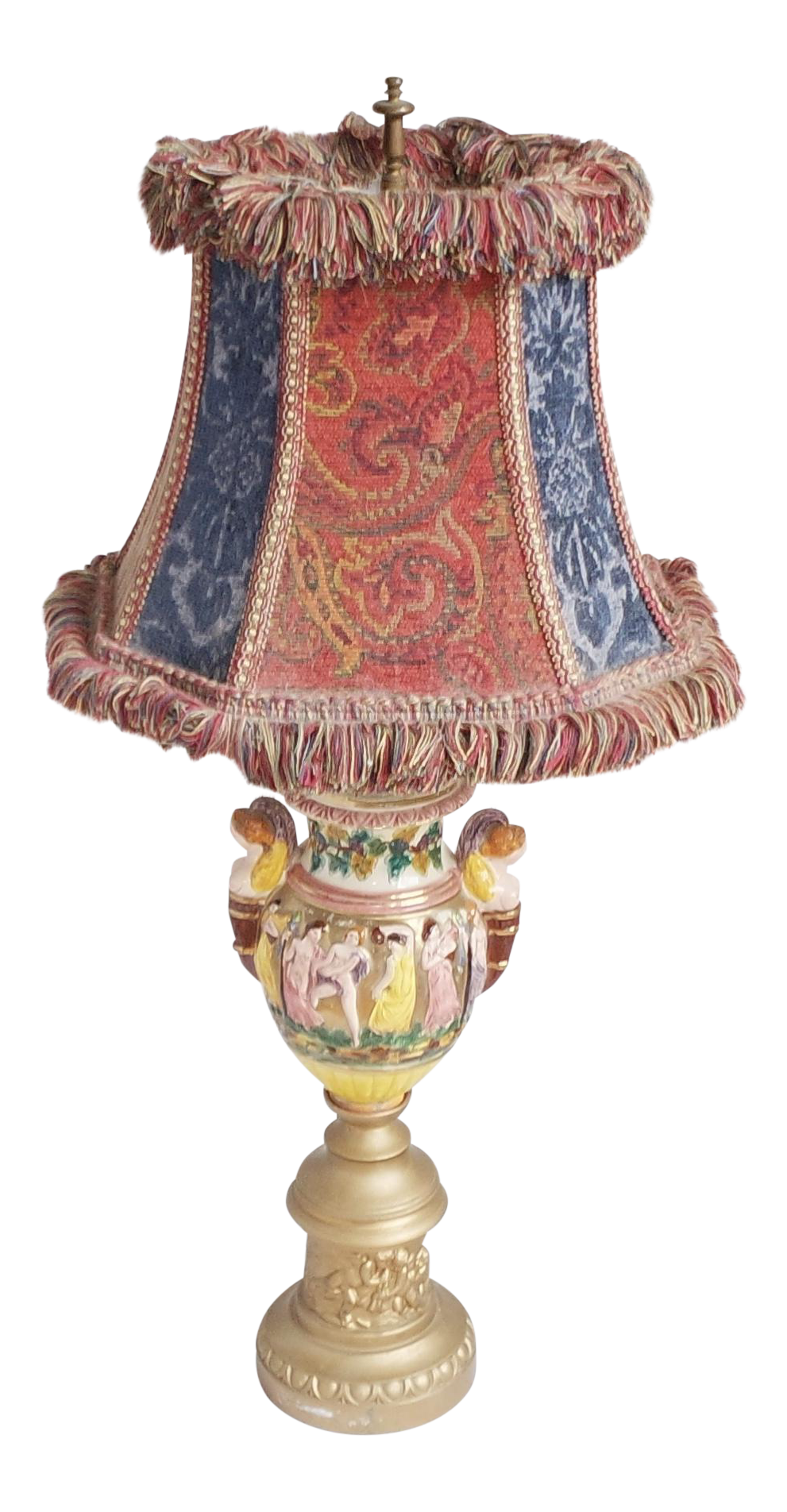 Capodimonte Porcelain Table Lamp : Vintage capodimonte porcelain table lamp chairish