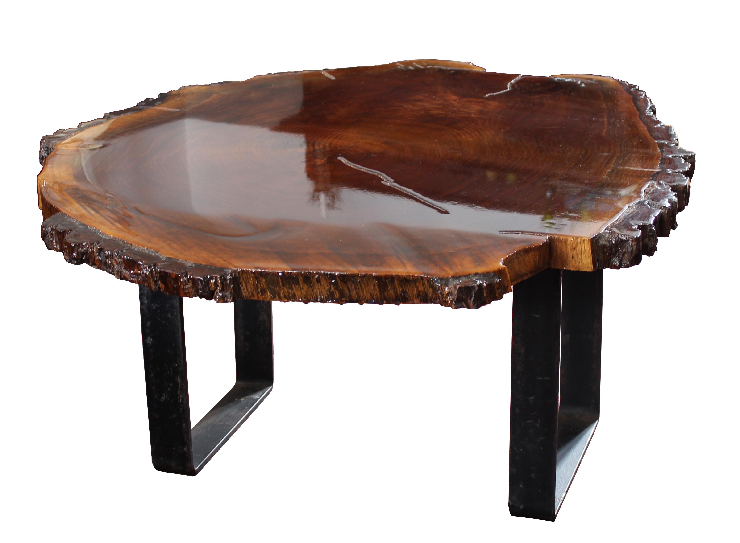 Black Walnut Slab Coffee Table Chairish