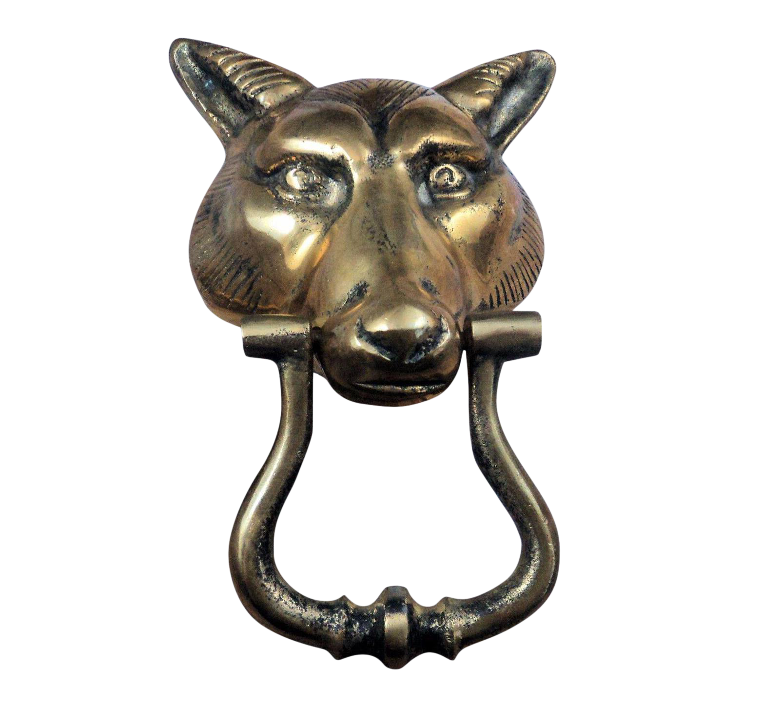 Mid Century Brass Wolf Head Door Knocker Chairish