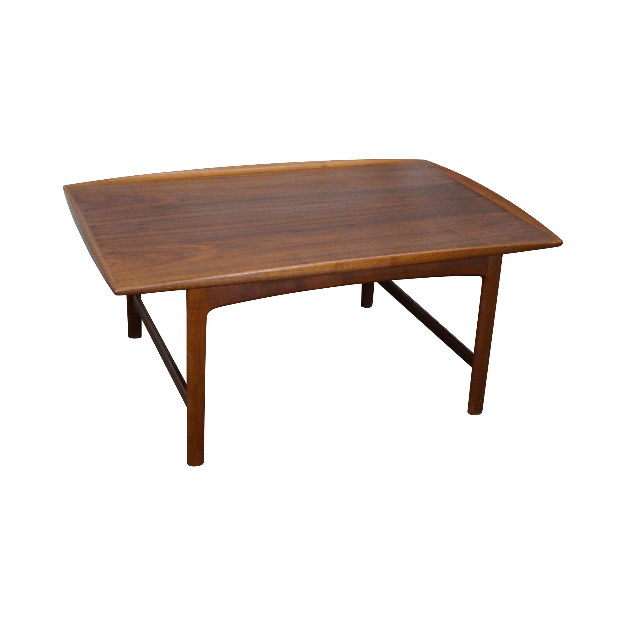 fulke ohlsson for dux danish teak coffee table | chairish
