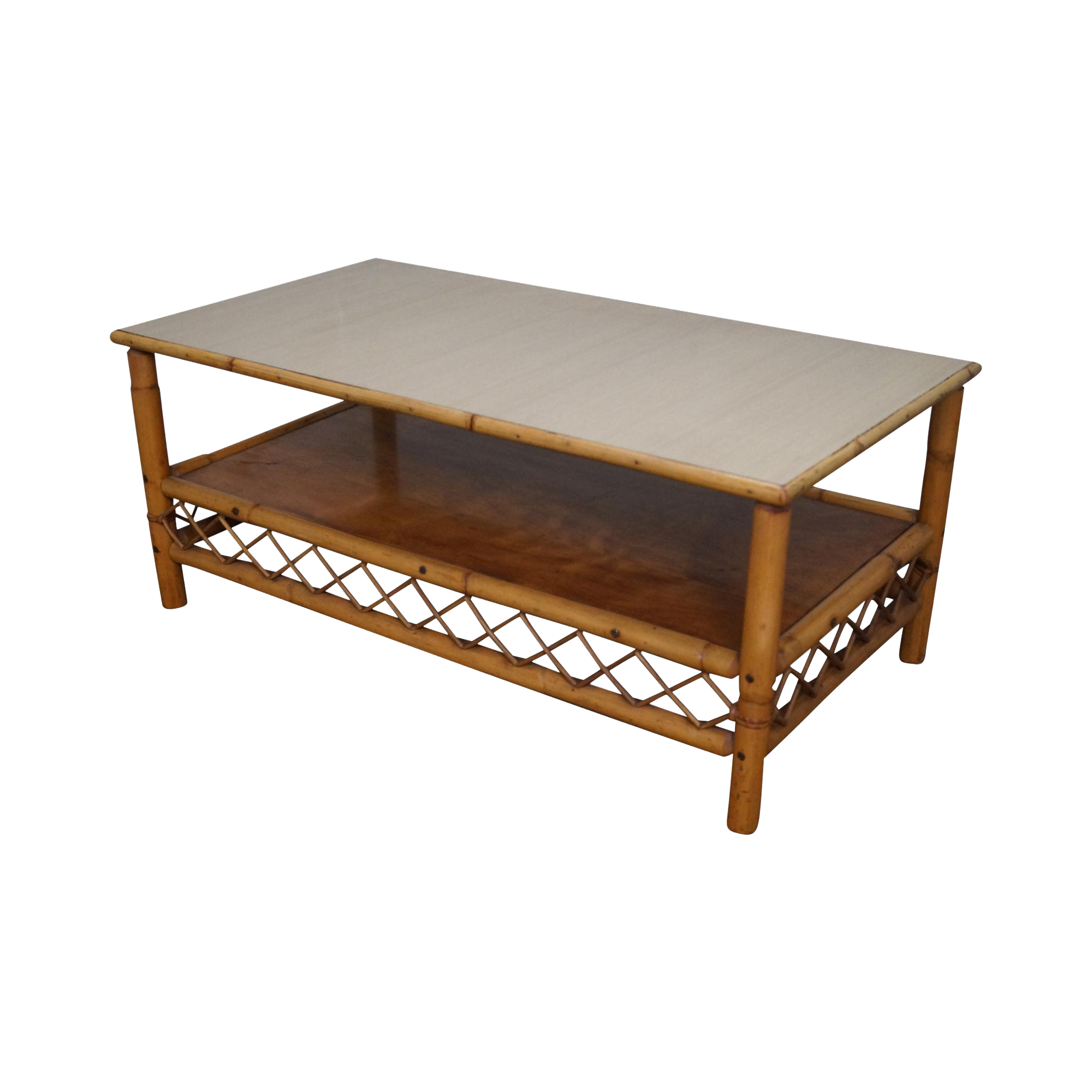 Imperial reed vintage rattan coffee table chairish geotapseo Images