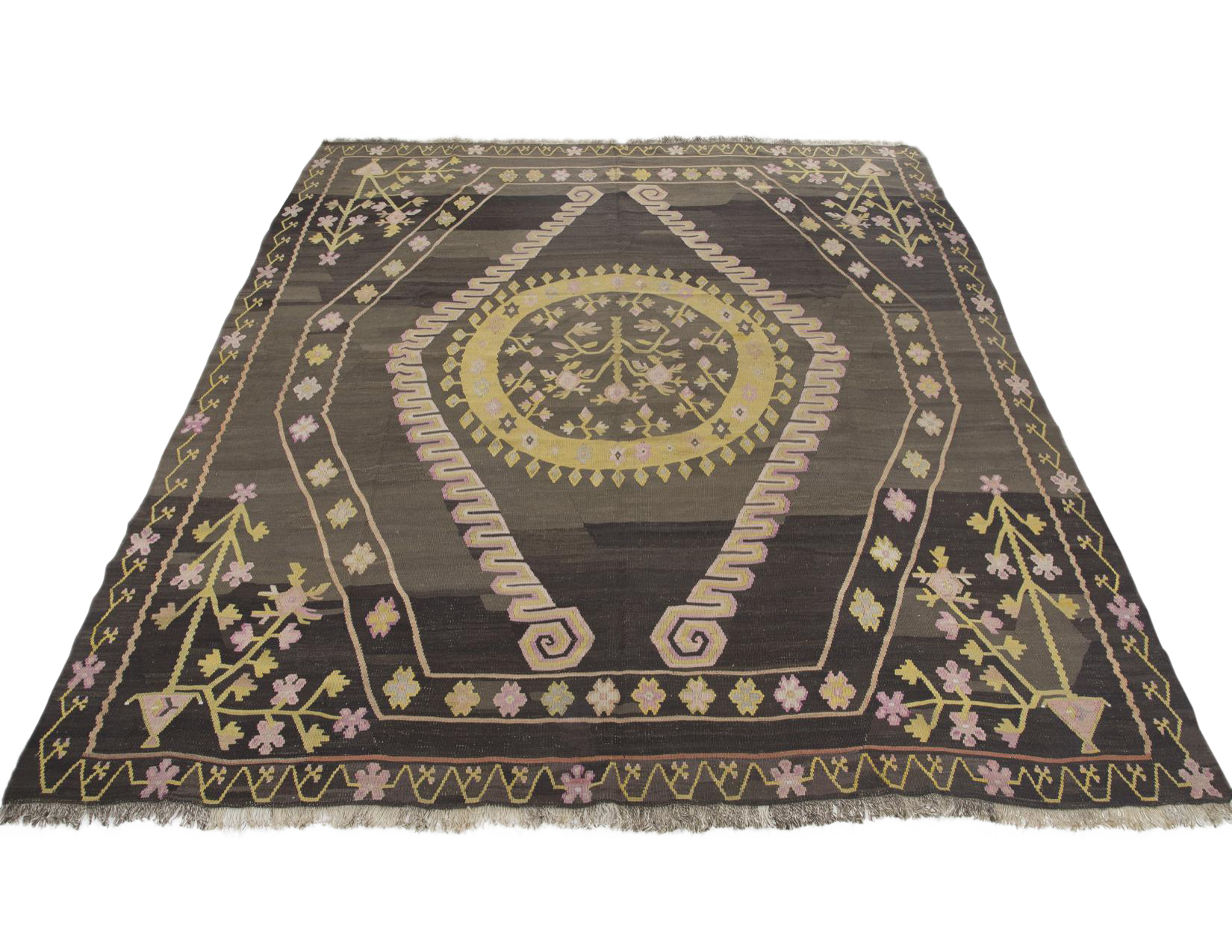 Turkish Wool Kilim Rug 9 8 215 10 6 Chairish