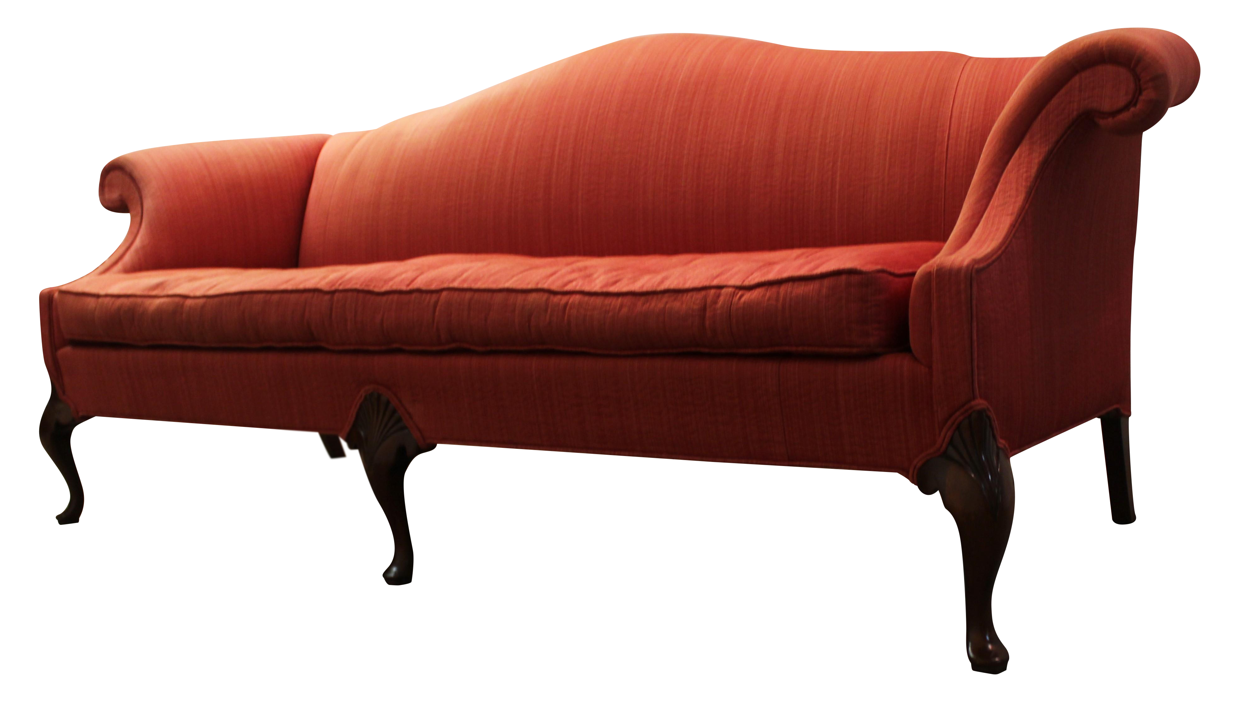Hickory Chair Co Tufted Seat Camel Back Sofa Chairish
