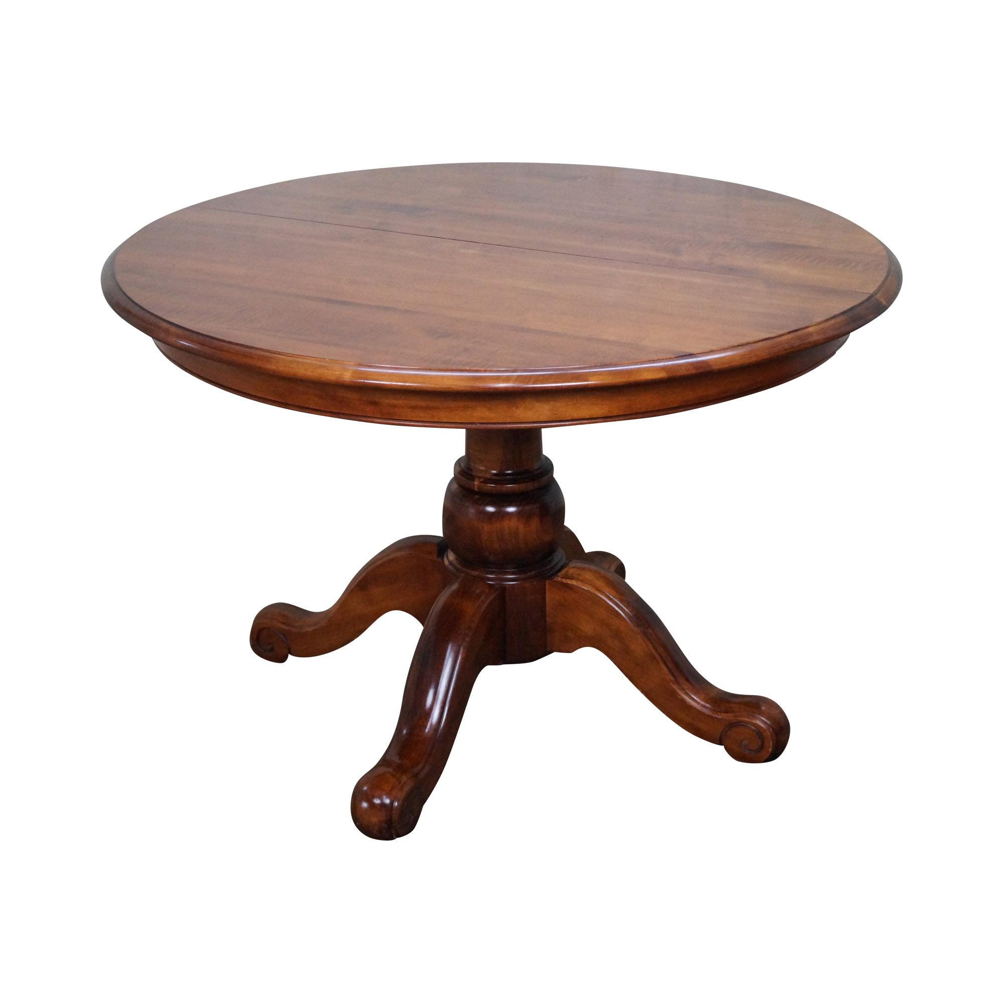 Ethan Allen Oval Dining Room Pedestal Table