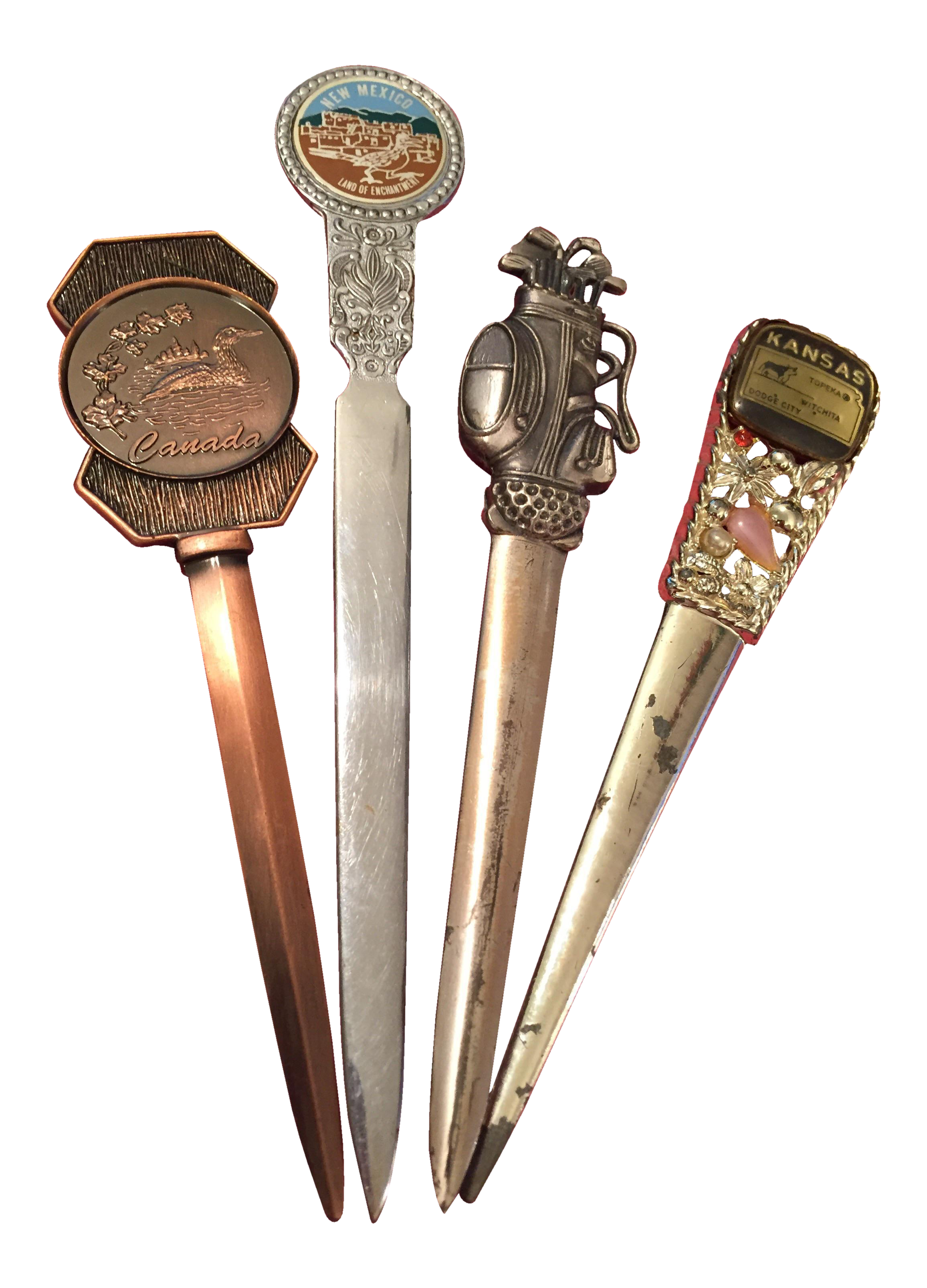 Antique Letter Openers Set Of 4 Chairish