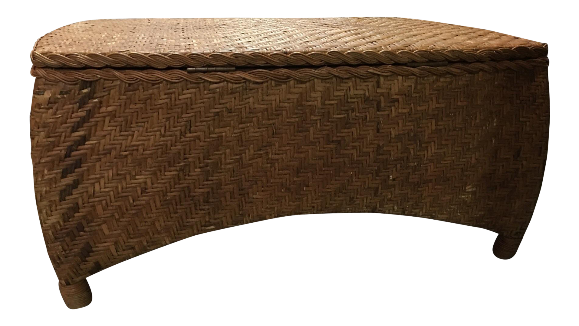 wicker center table trunk with storage chairish