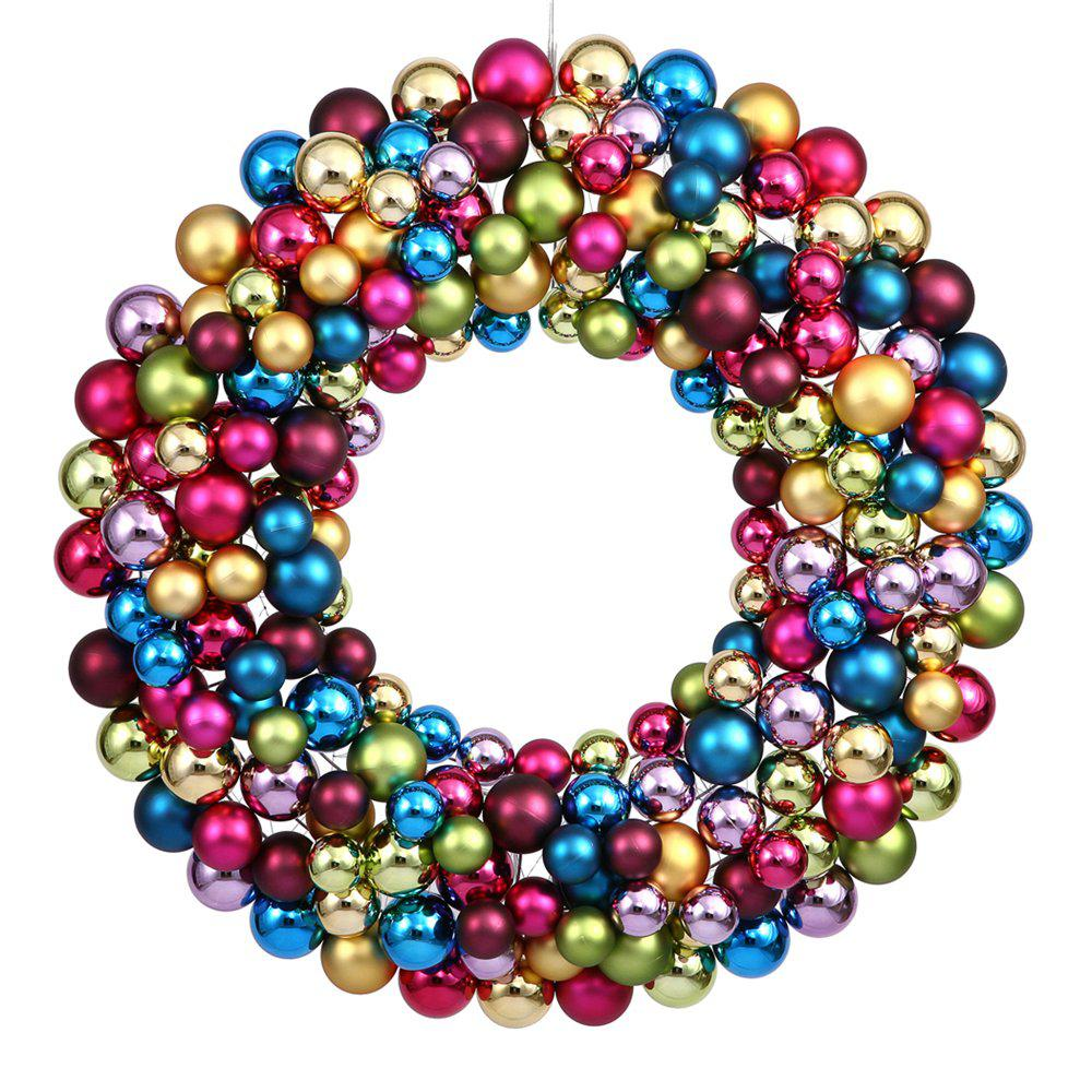 Multi Colored Ornament Wreath Chairish