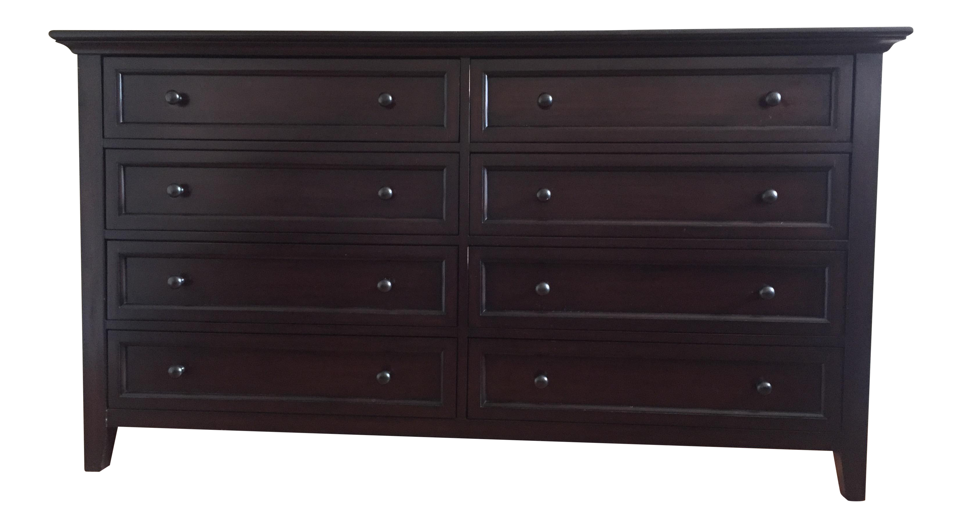 Pottery Barn Hudson Extra Wide Dresser In Mahogany Stain