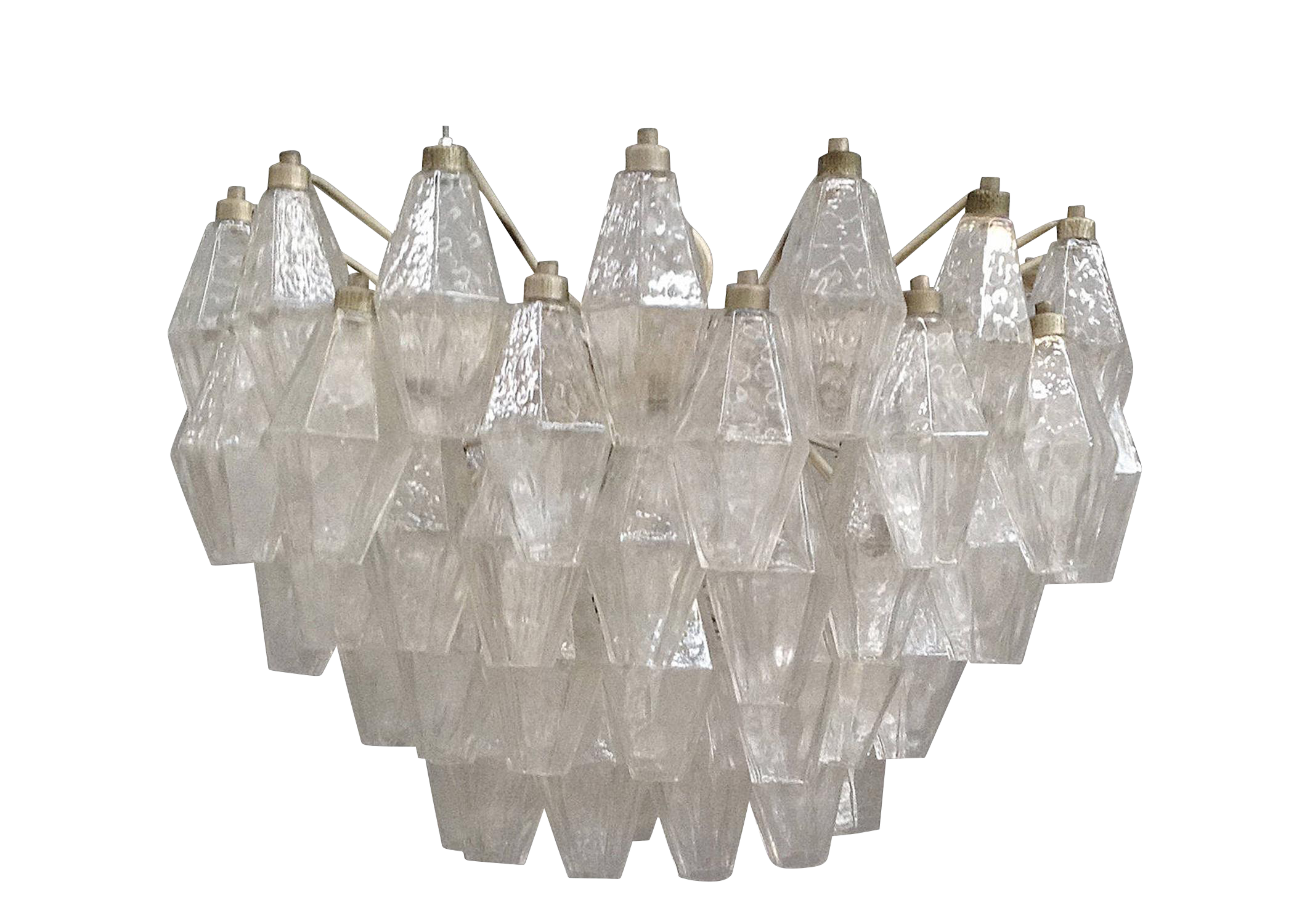 1960s Polyhedral Transparent Chandelier Chairish
