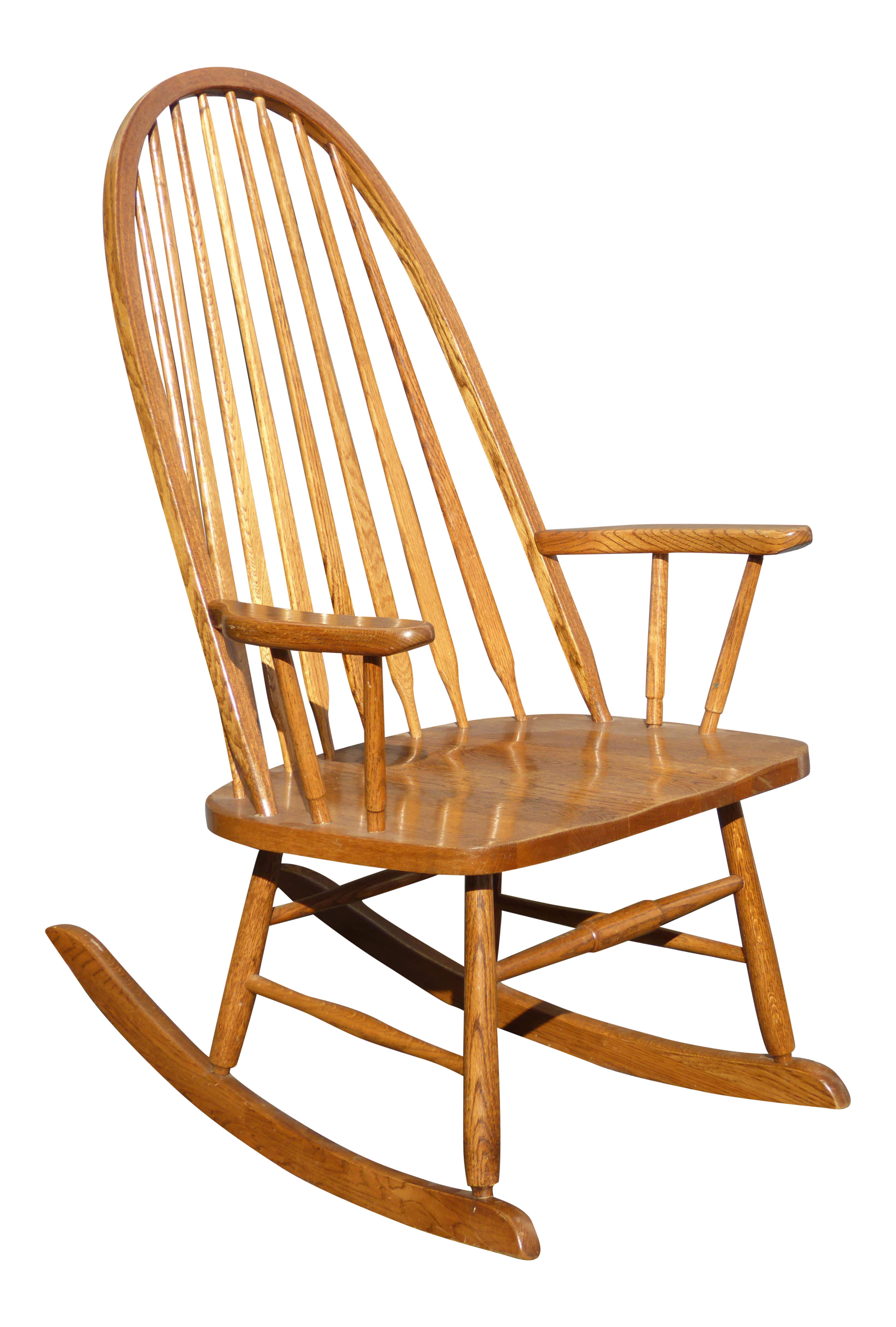 Mid century wood rocking chair - Vintage Royola Pacific Mid Century French Country Oak Windsor Rocking Chair Chairish