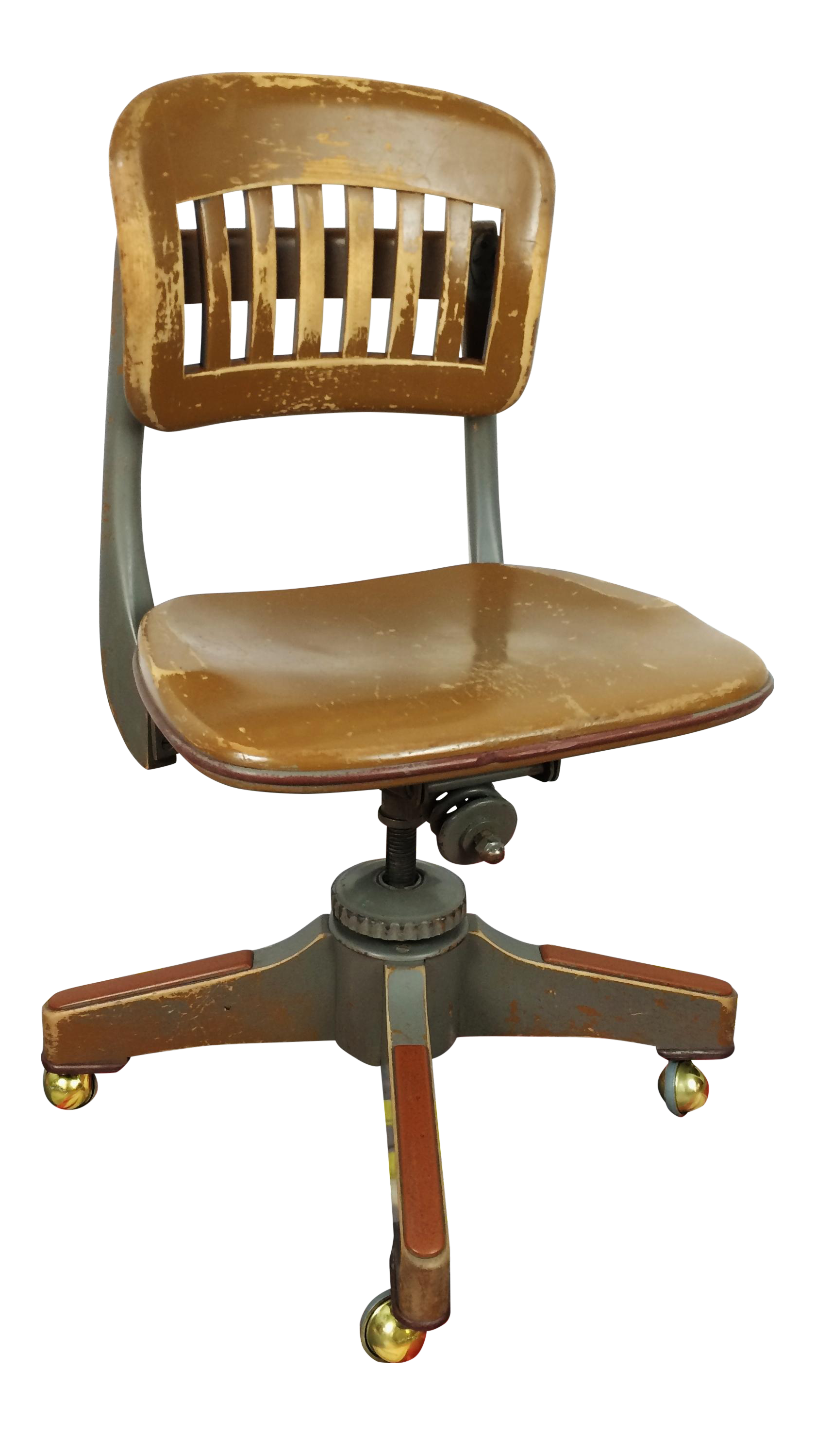 Antique Sikes Industrial Swivel Desk Office Chair Chairish
