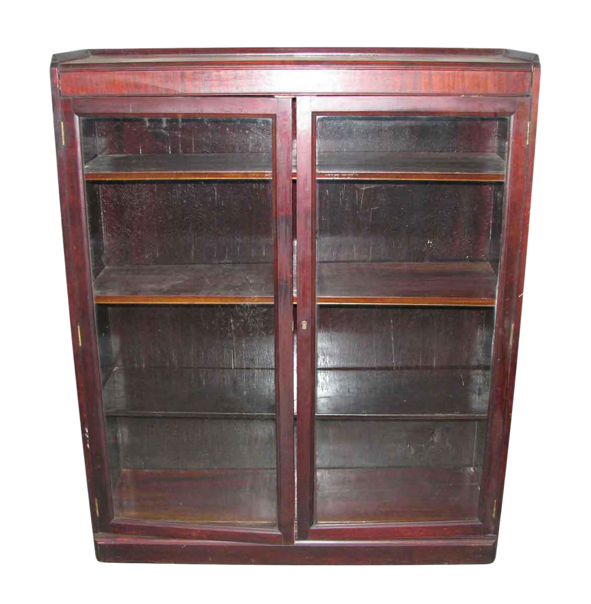 Antique Mahogany Bookcase Display Cabinet Chairish