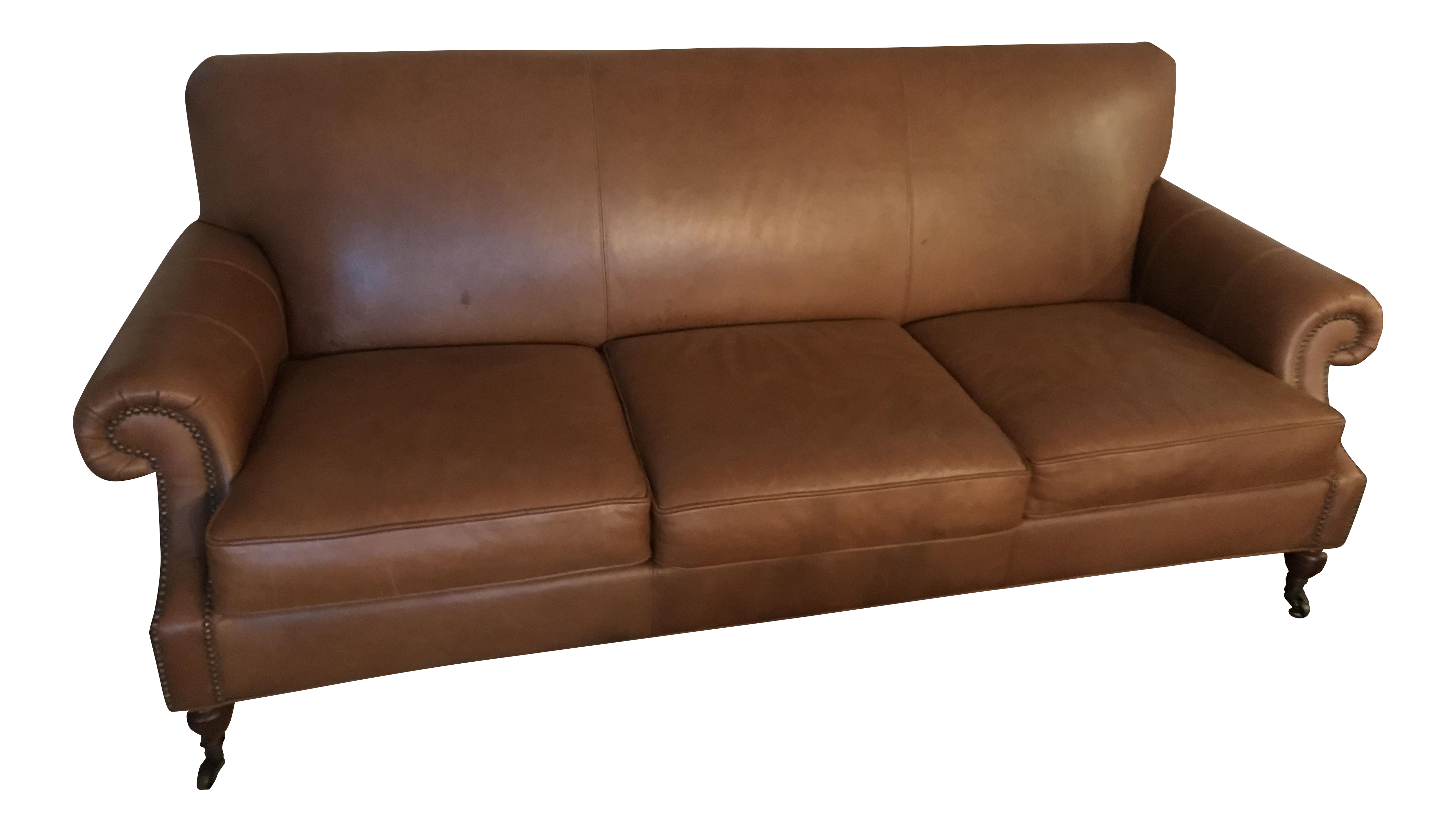 Leather Office Chair Pottery Barn: Pottery Barn Distressed Leather Sofa