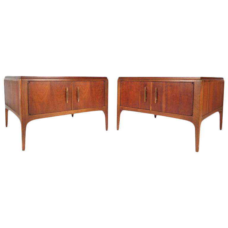 Lane Furniture Mid Century Low End Tables A Pair Chairish