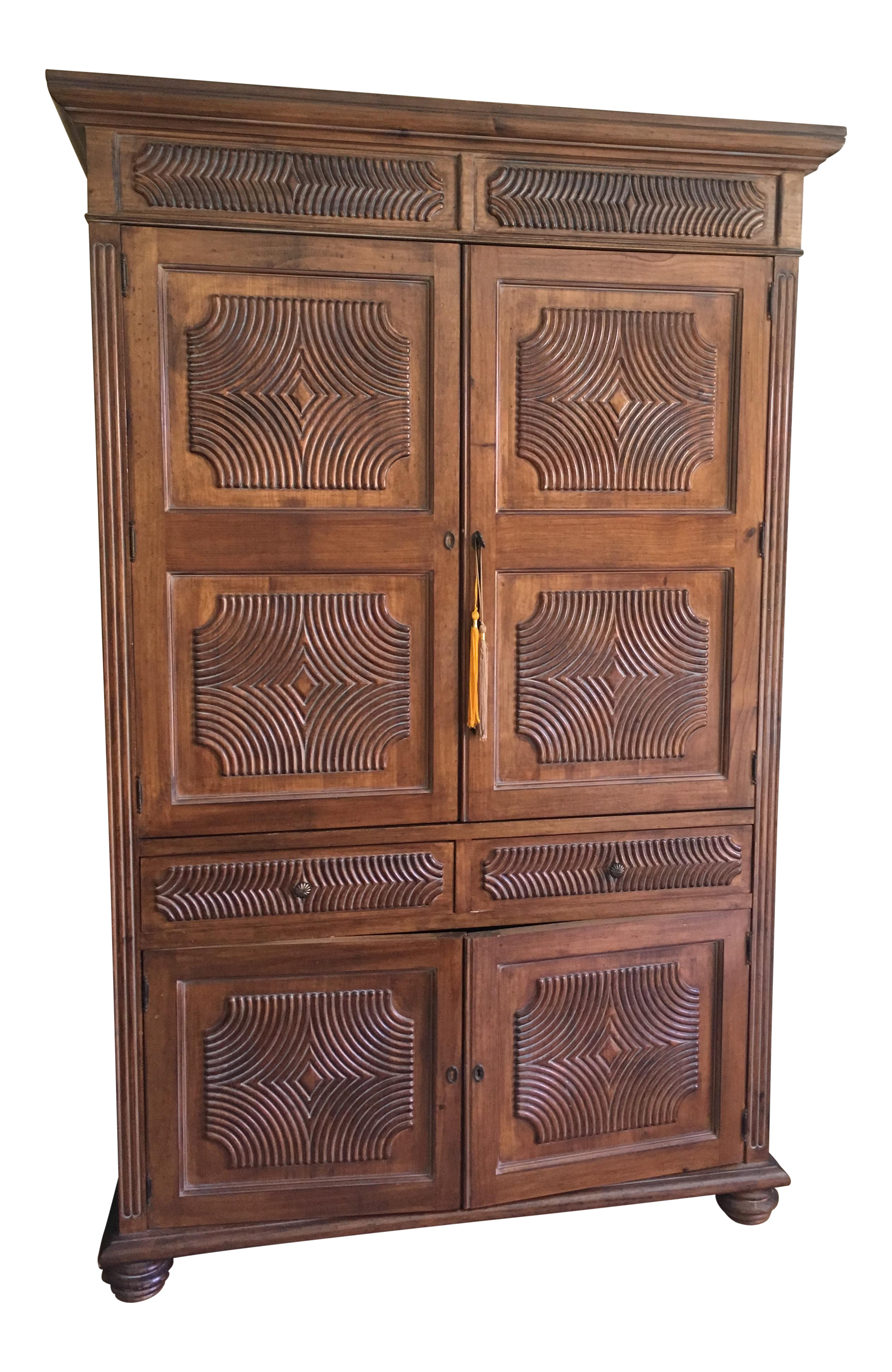 Kreiss asian style armoire entertainment furniture chairish for Asian furniture dc
