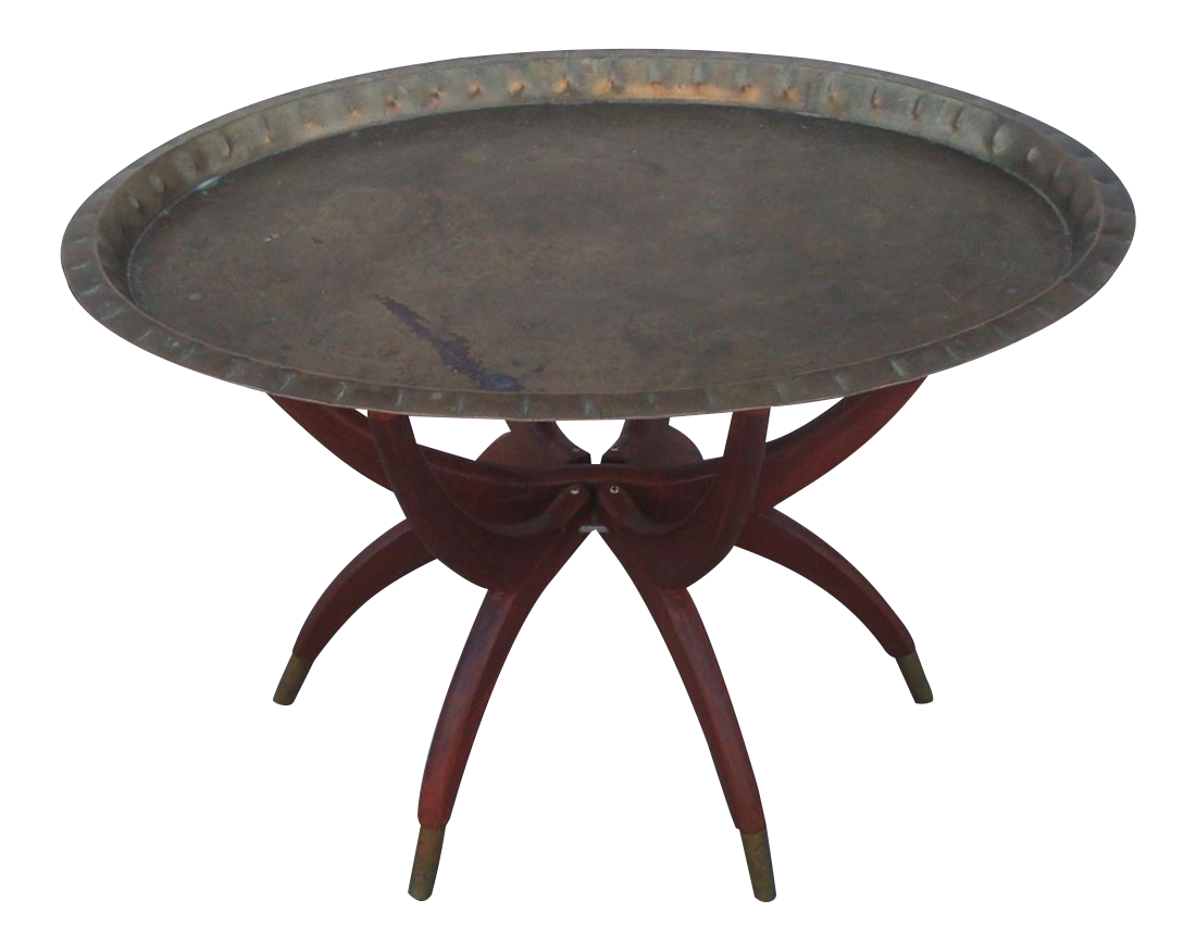 Oval Moroccan Teak amp Brass Spider Leg Tray Table Chairish : oval moroccan teak and brass spider leg tray table 6980 from www.chairish.com size 1100 x 874 png 660kB