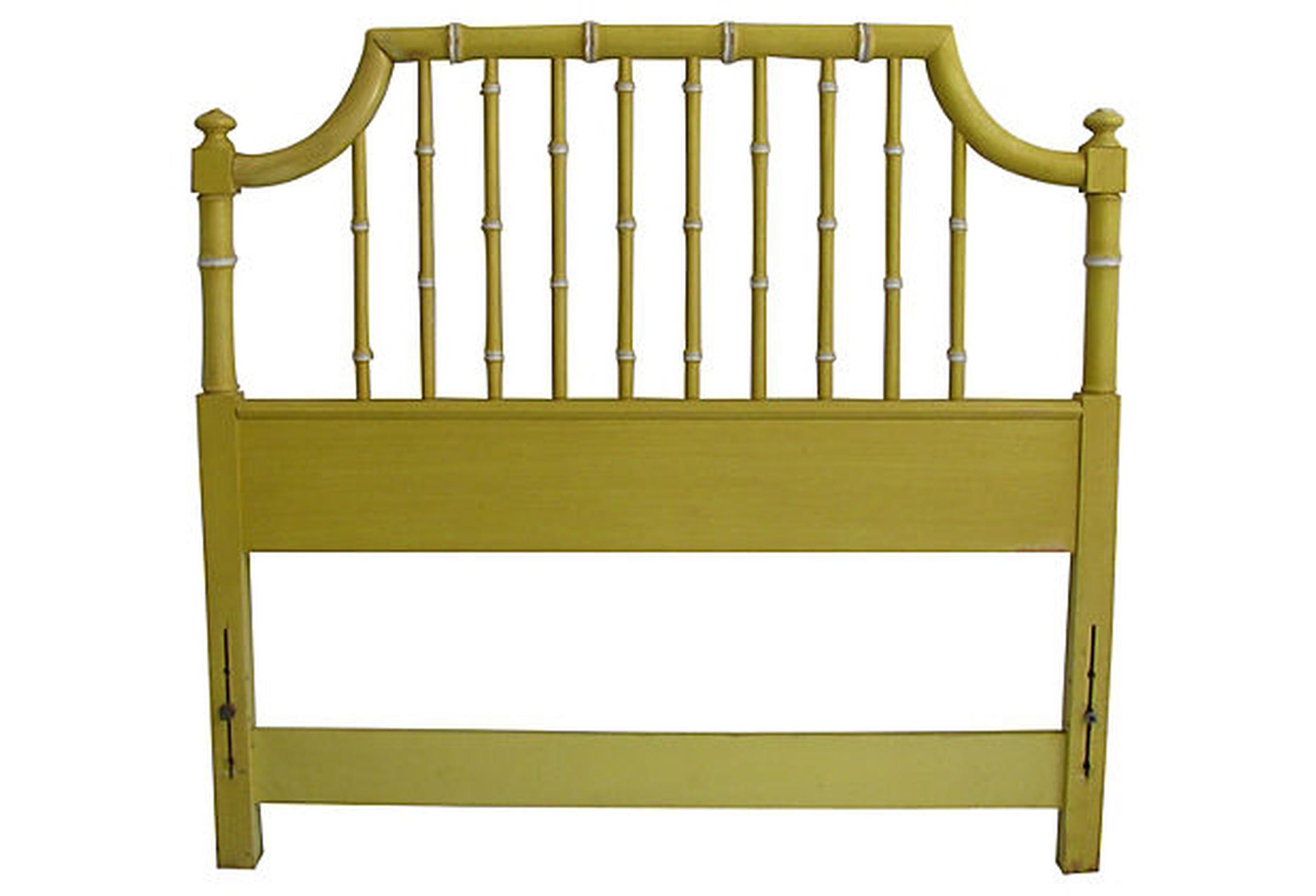 Thomasville Yellow Faux Bamboo Twin Headboard Chairish