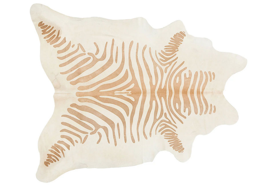 Honey Color Zebra Print Cow Hide Rug - 7u0026#39; X 8u0026#39; : Chairish