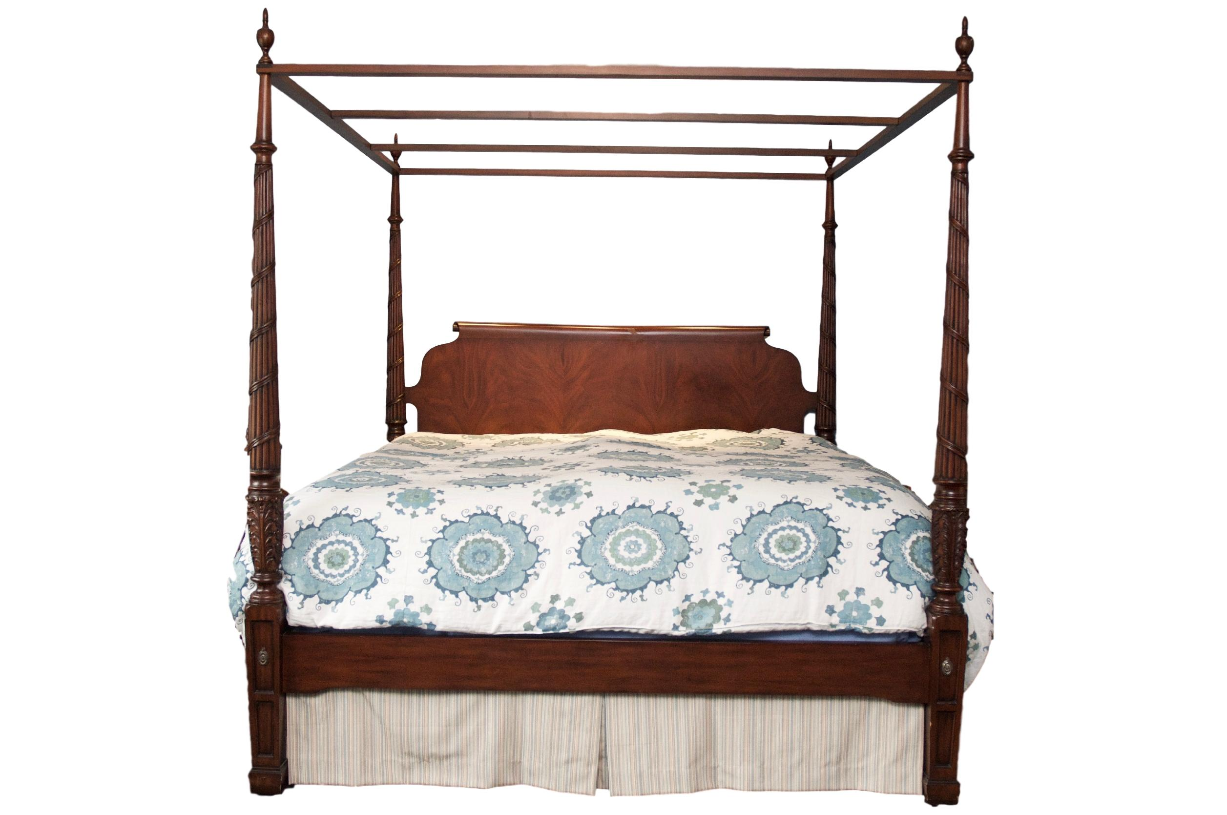 ethan allen king beds ethan allen laurel poster king bed with canopy chairish 15228