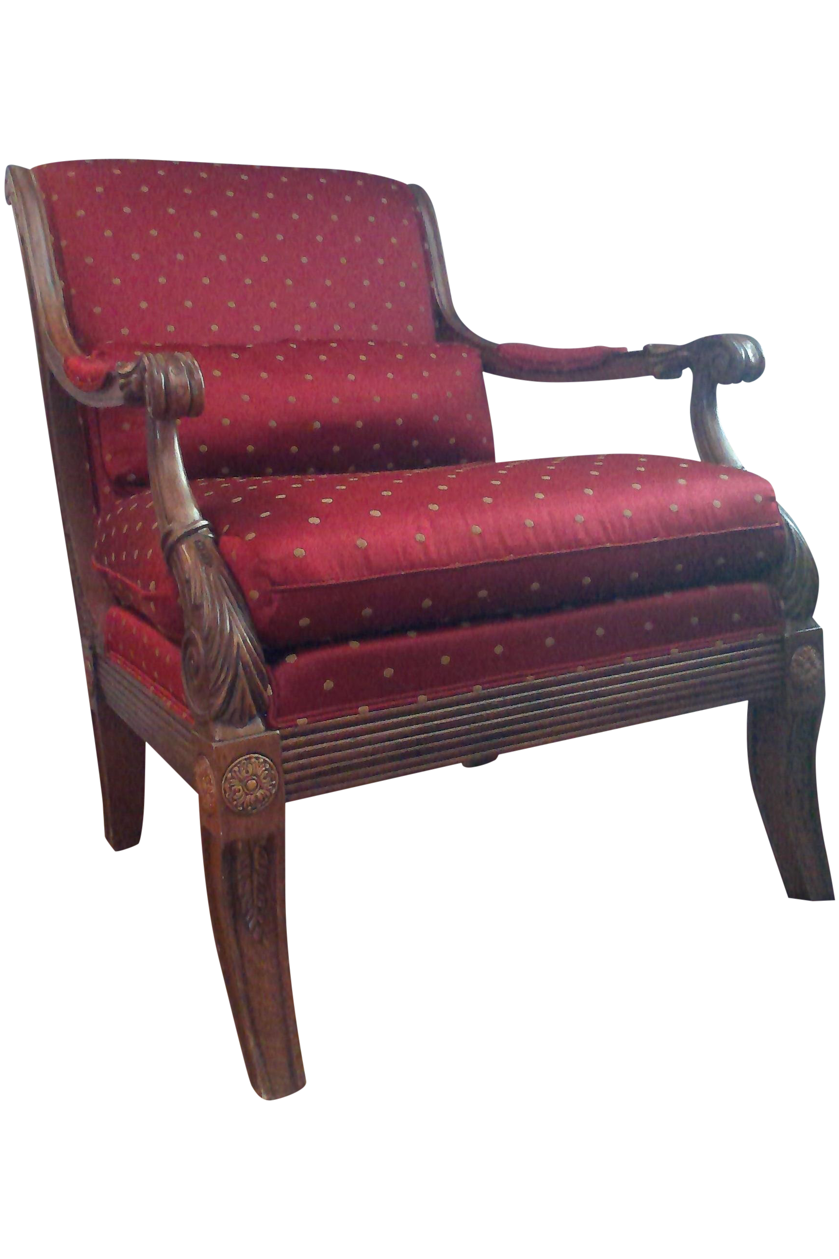 Ethan Allen Roma Traditional Red Club Chair