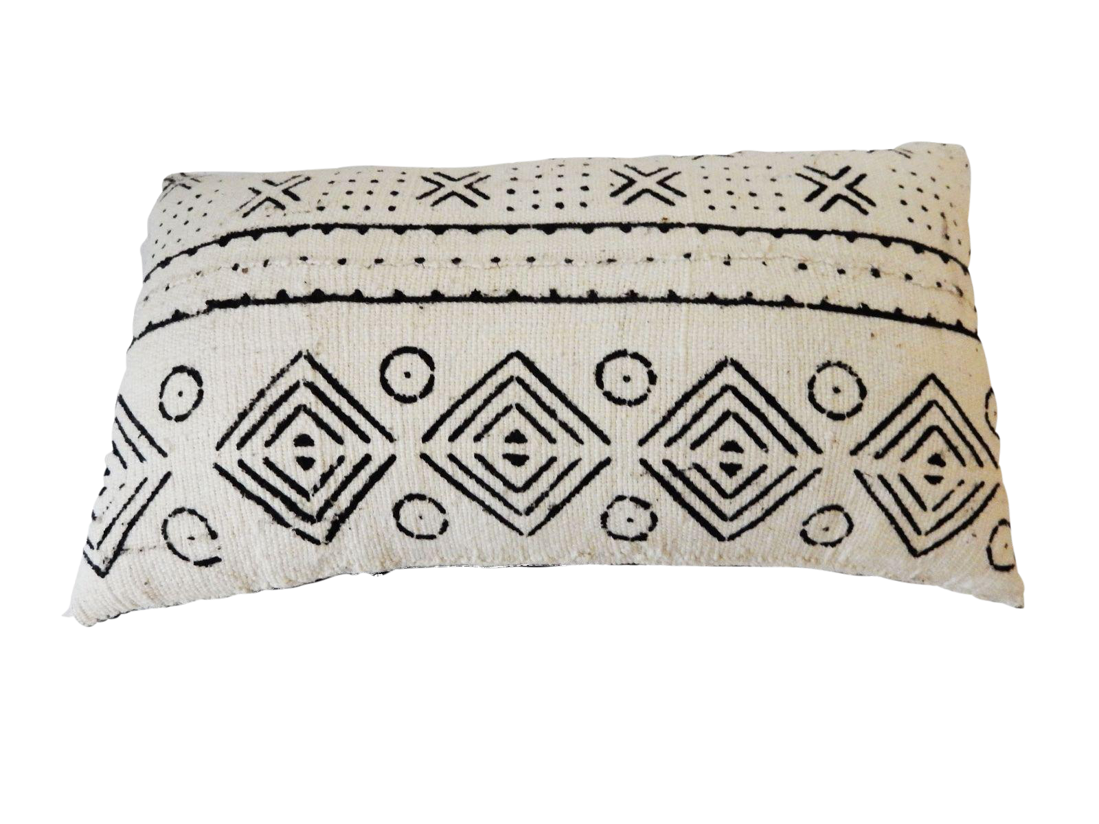 African Mali Mud Cloth Bogolan Lumbar Pillow Chairish