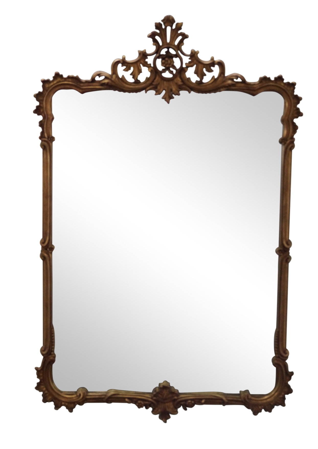 Vintage Faux Bamboo Amp Leaf Carved Wall Mirror Chairish
