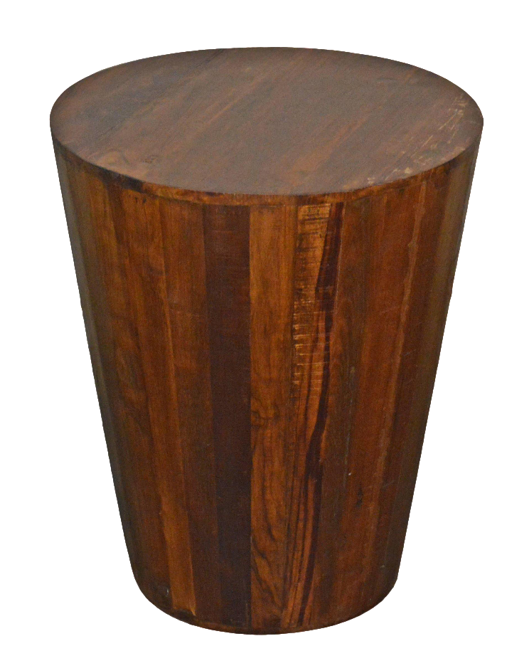 Reclaimed Barrel Stool End Table Chairish
