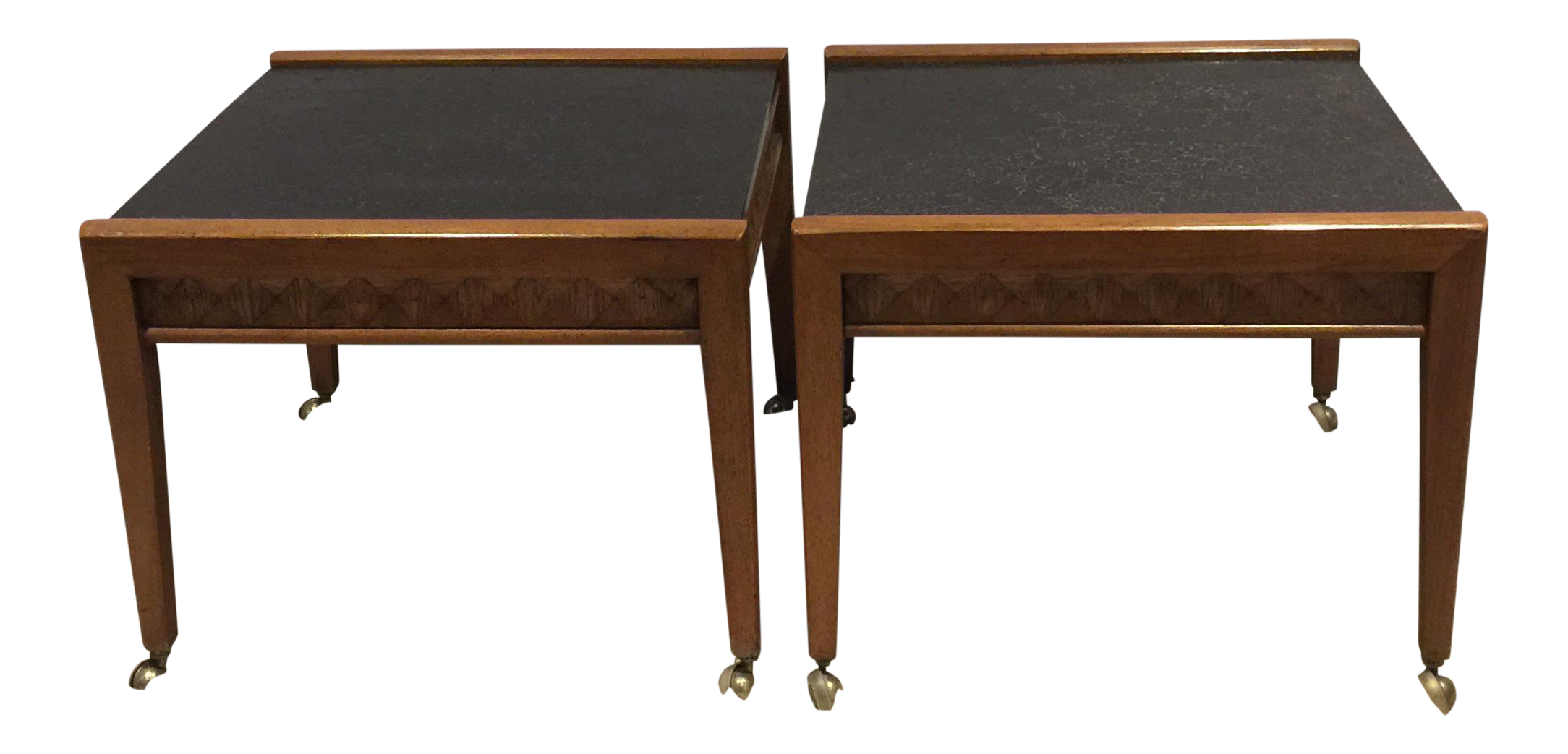 Broyhill Diamond Head Side Table A Pair