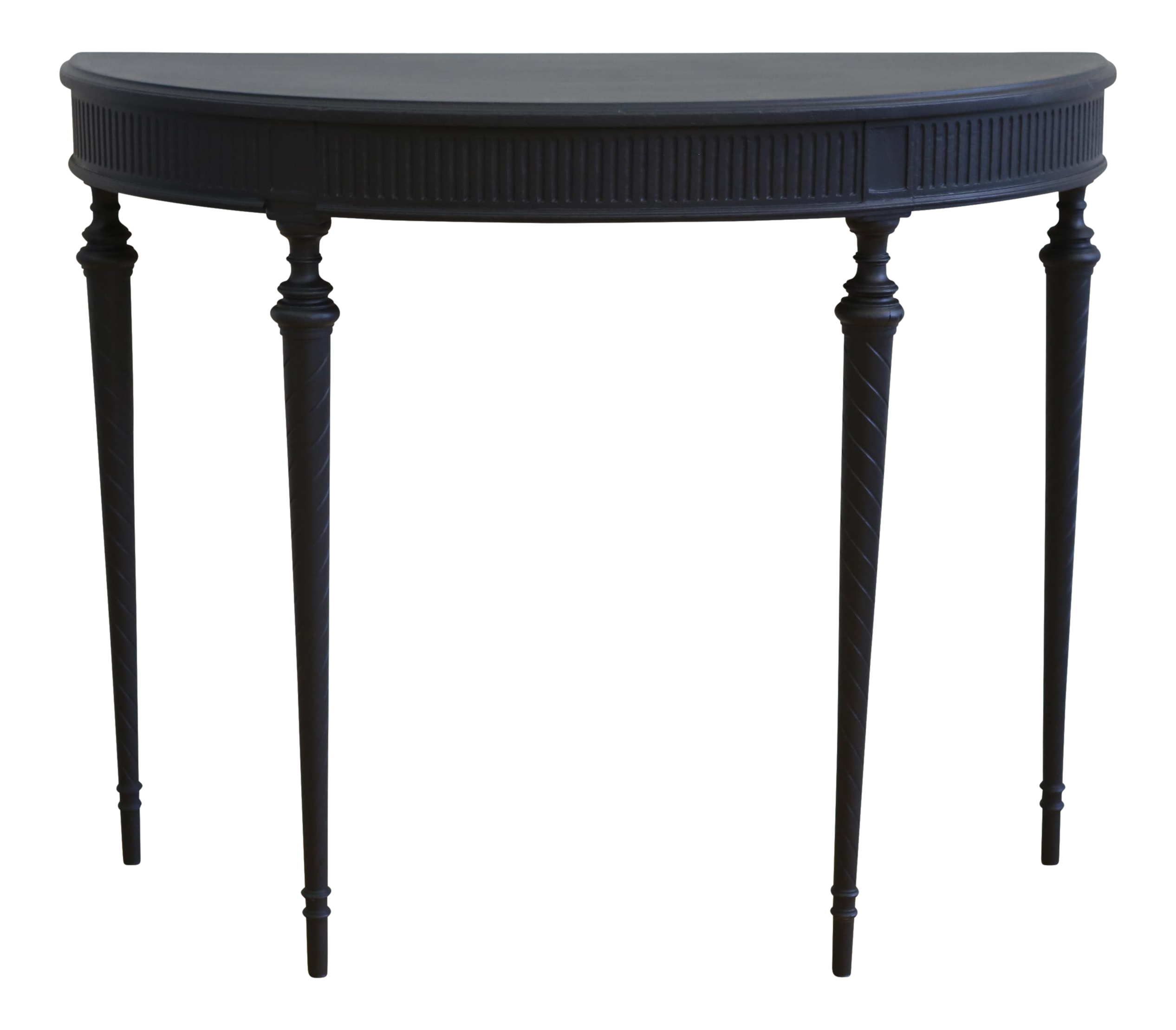 Vintage french black console table chairish geotapseo Images