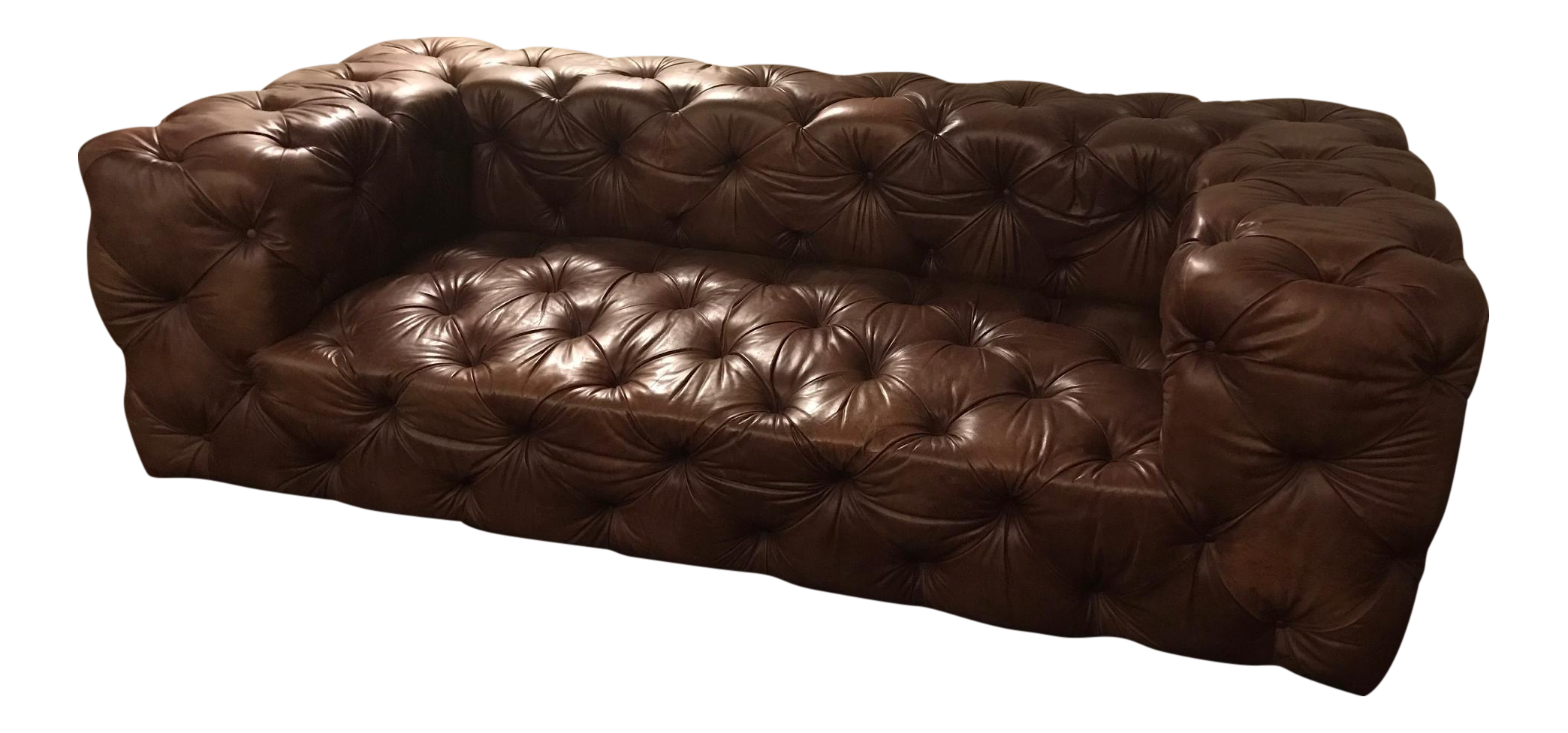 Restoration Hardware Soho Tufted Leather Sofa