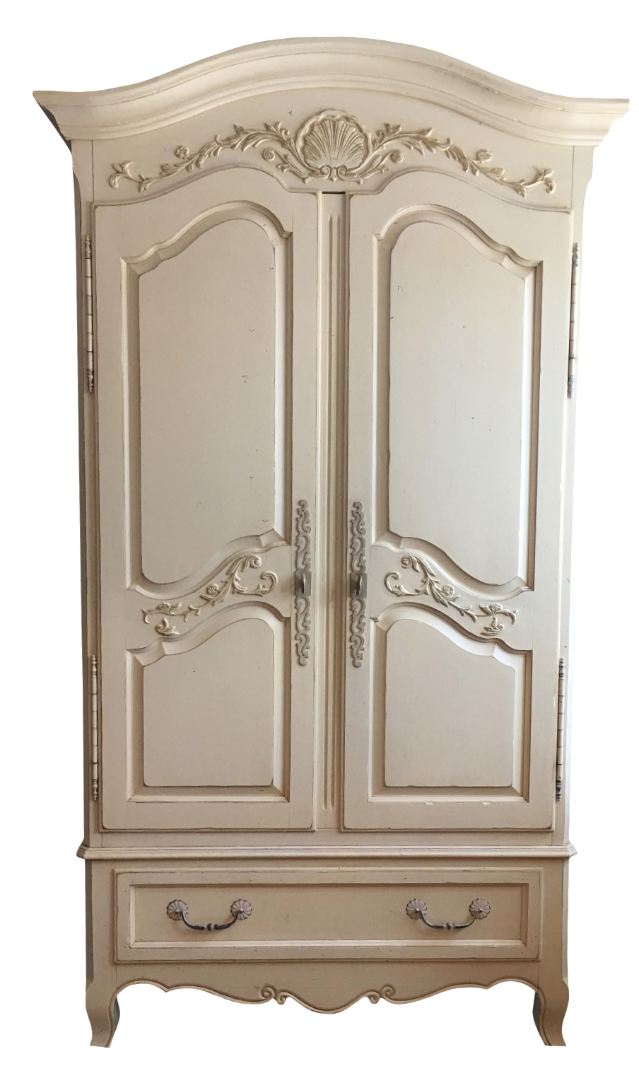 Ethan Allen Country French Armoire : Chairish
