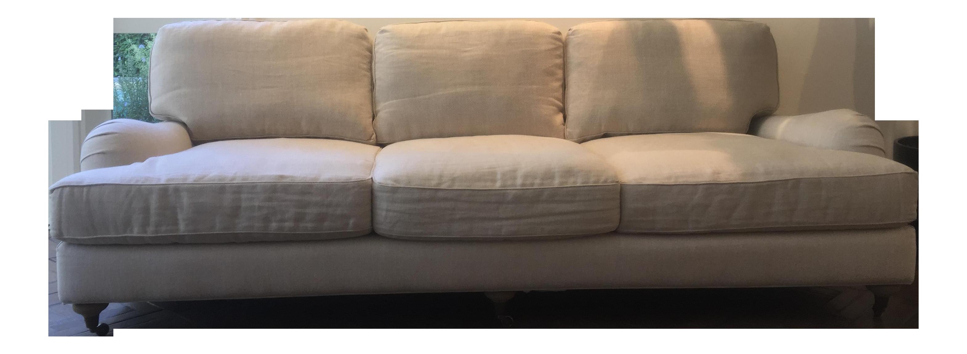 Restoration Hardware Belgian Linen Sofa Chairish