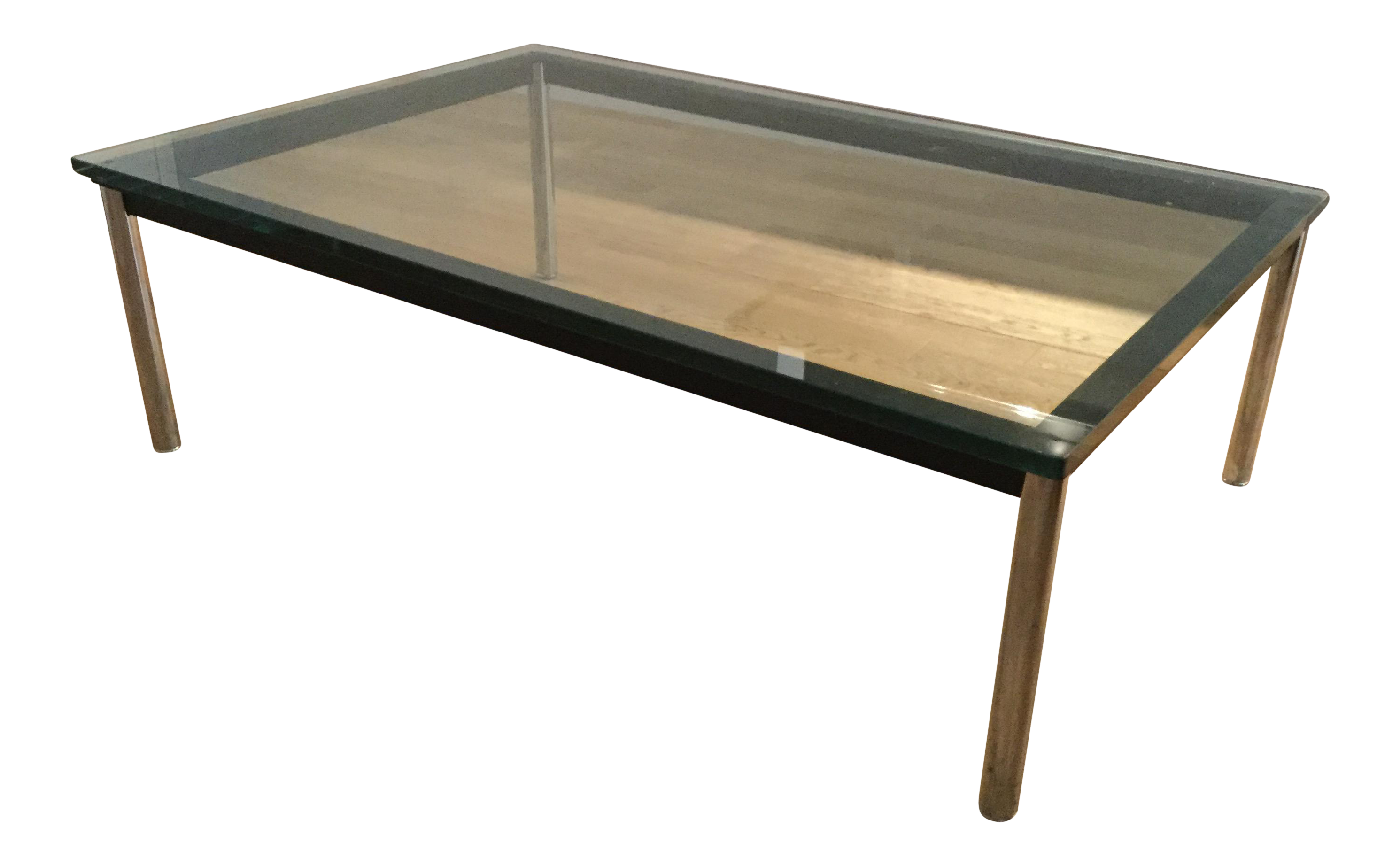 Le Corbusier Lc10 P Rectangular Coffee Table Chairish