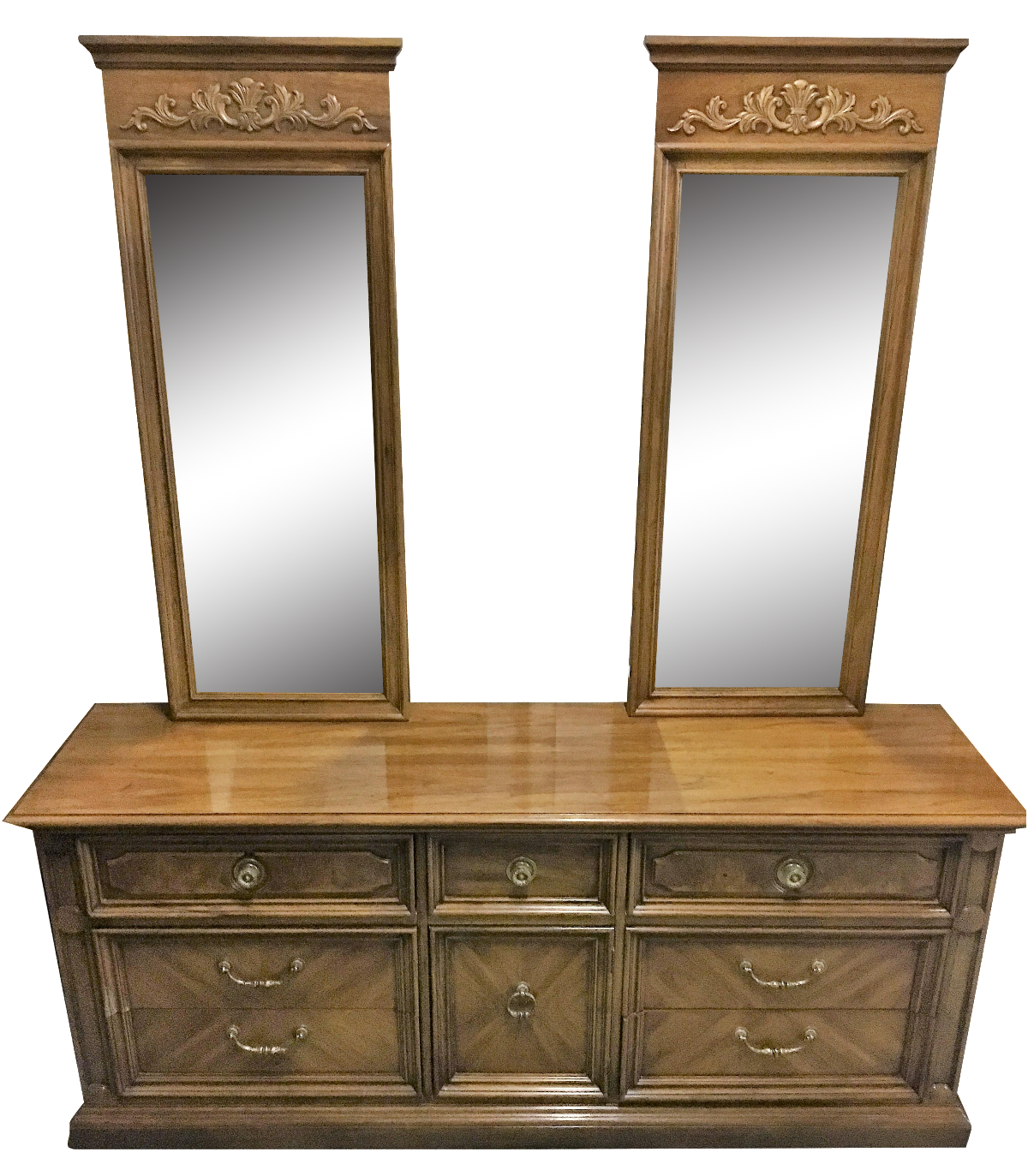 - Vintage Thomasville Dresser With Wall Mirrors Chairish