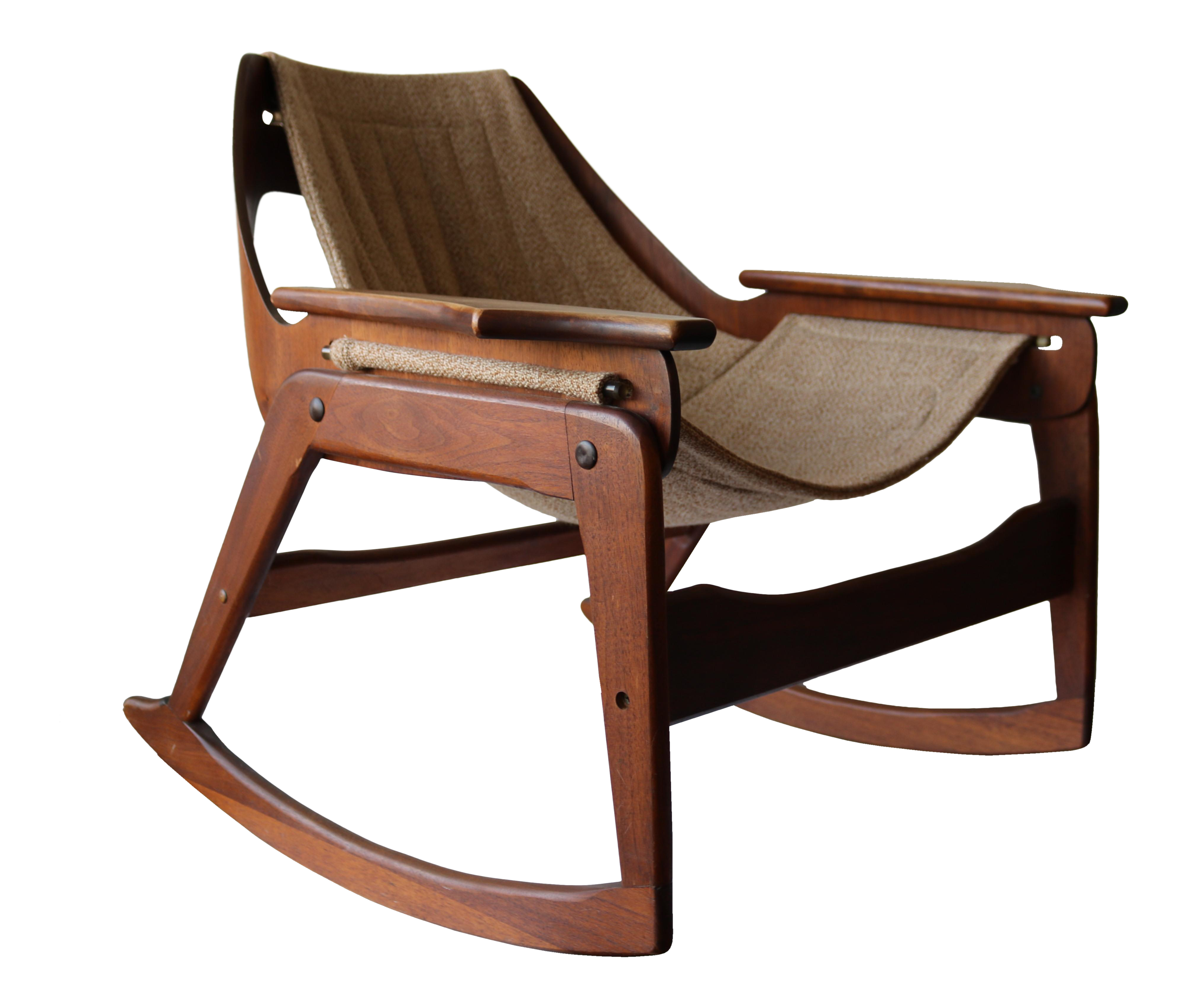 1970 s Boho Jerry Johnson Sling Rocking Chair