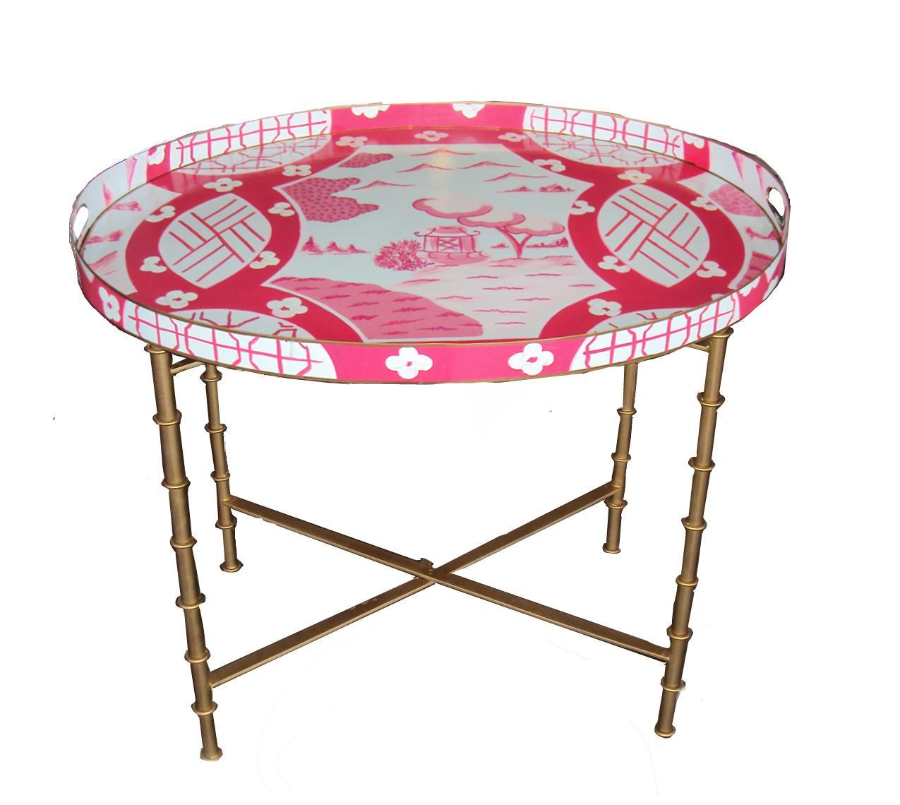 Dana Gibson Canton In Pink Coffee Table Chairish