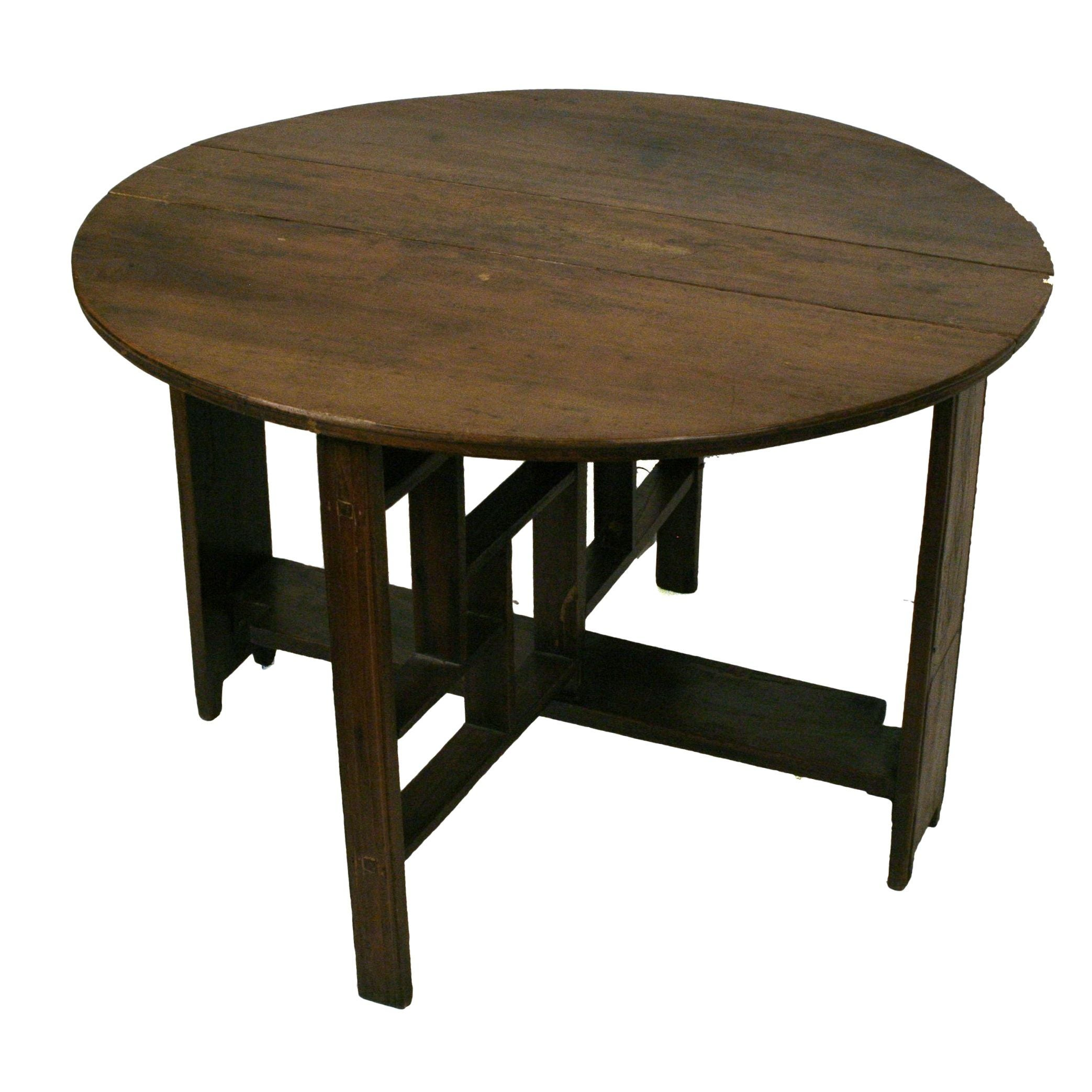 shanxi elmwood round folding coffee table | chairish