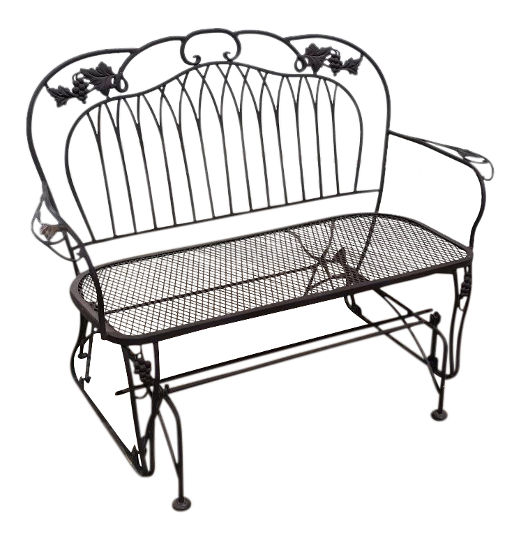 Vintage O W Lee Wrought Iron Loveseat Swing Chairish