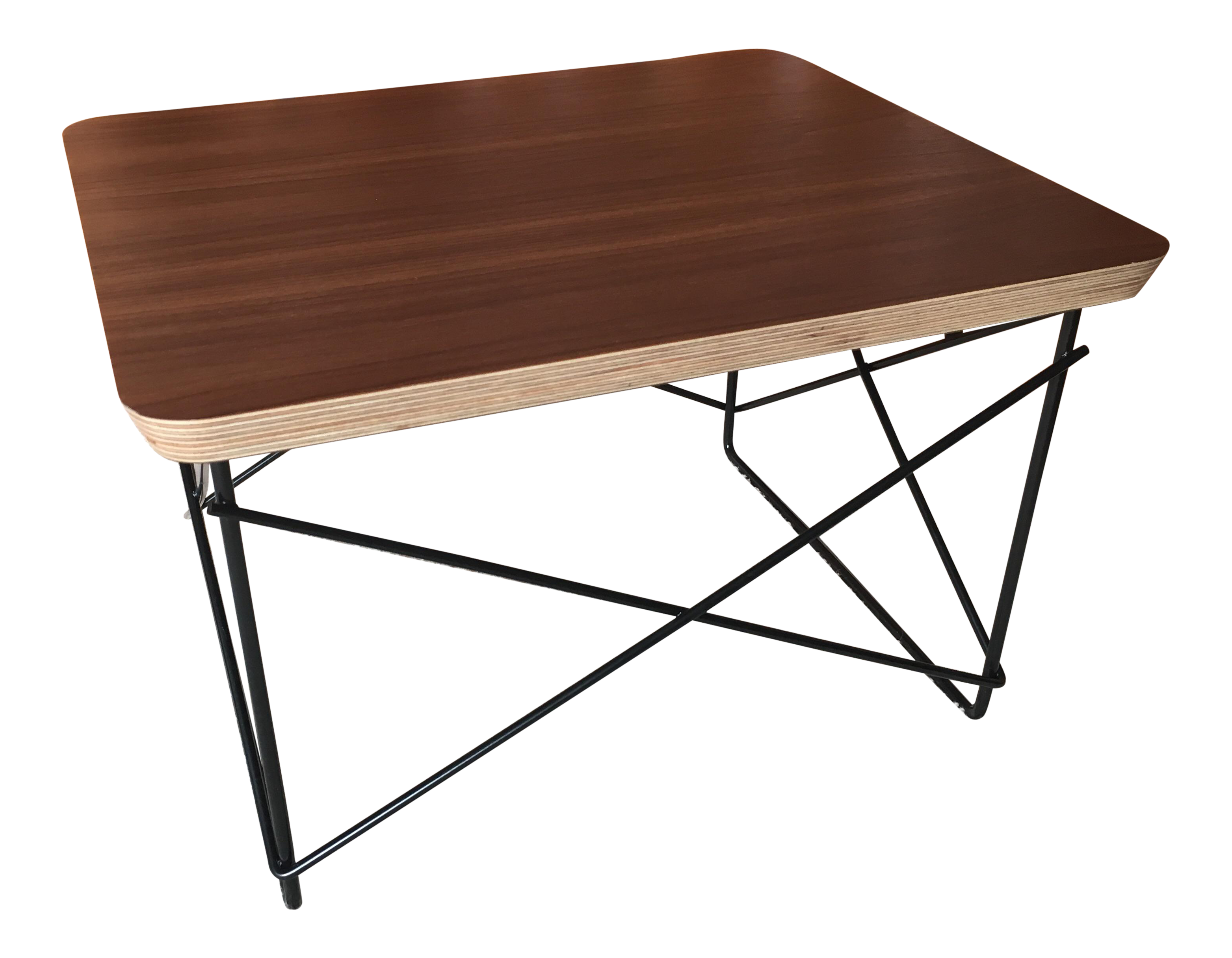 eames ltr with walnut top by