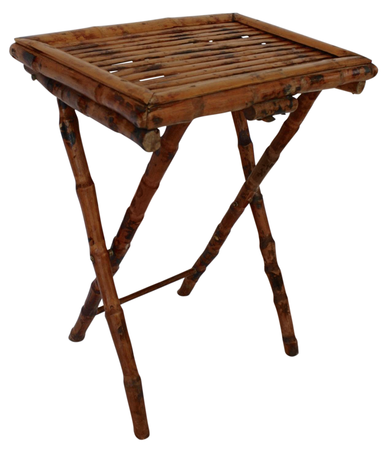 Bamboo Folding Tray Table Chairish