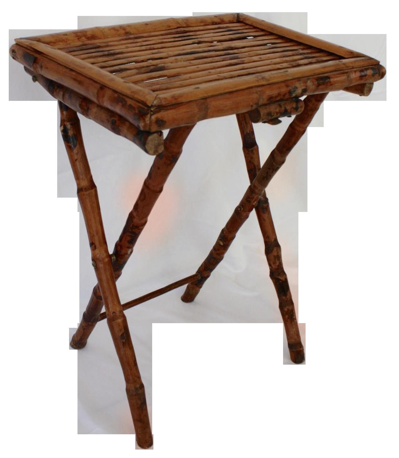 Bamboo Folding Tray Table