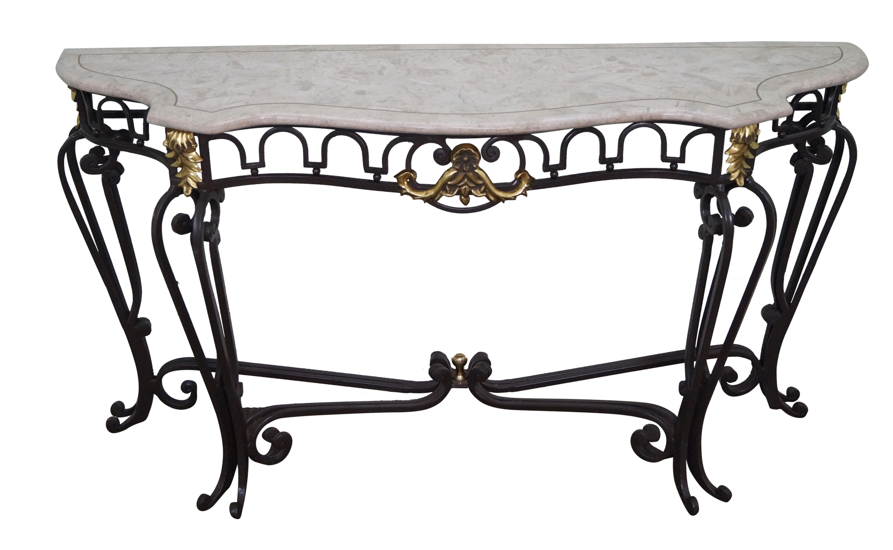 Maitland smith tessellated marble iron console chairish geotapseo Images
