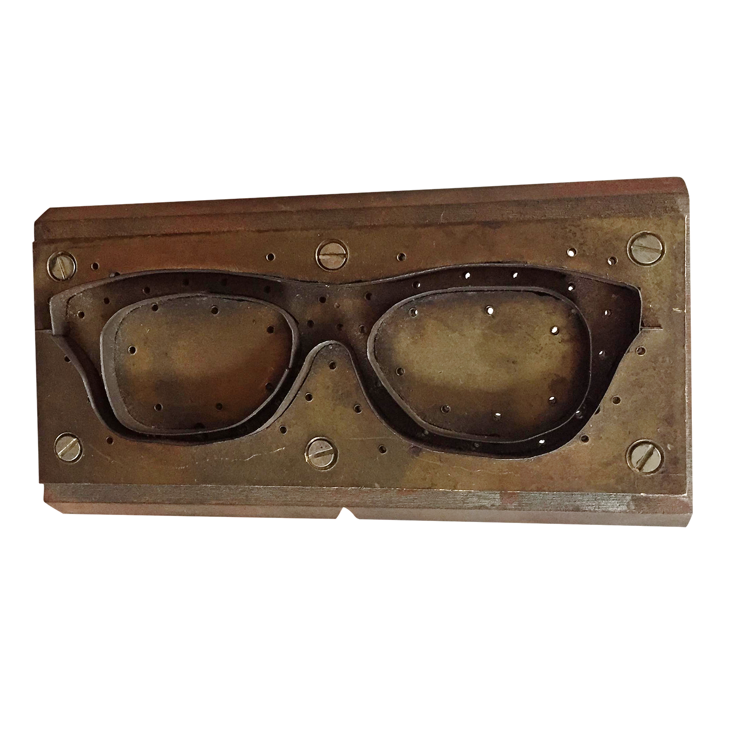 vintage industrial metal eyeglasses mold chairish