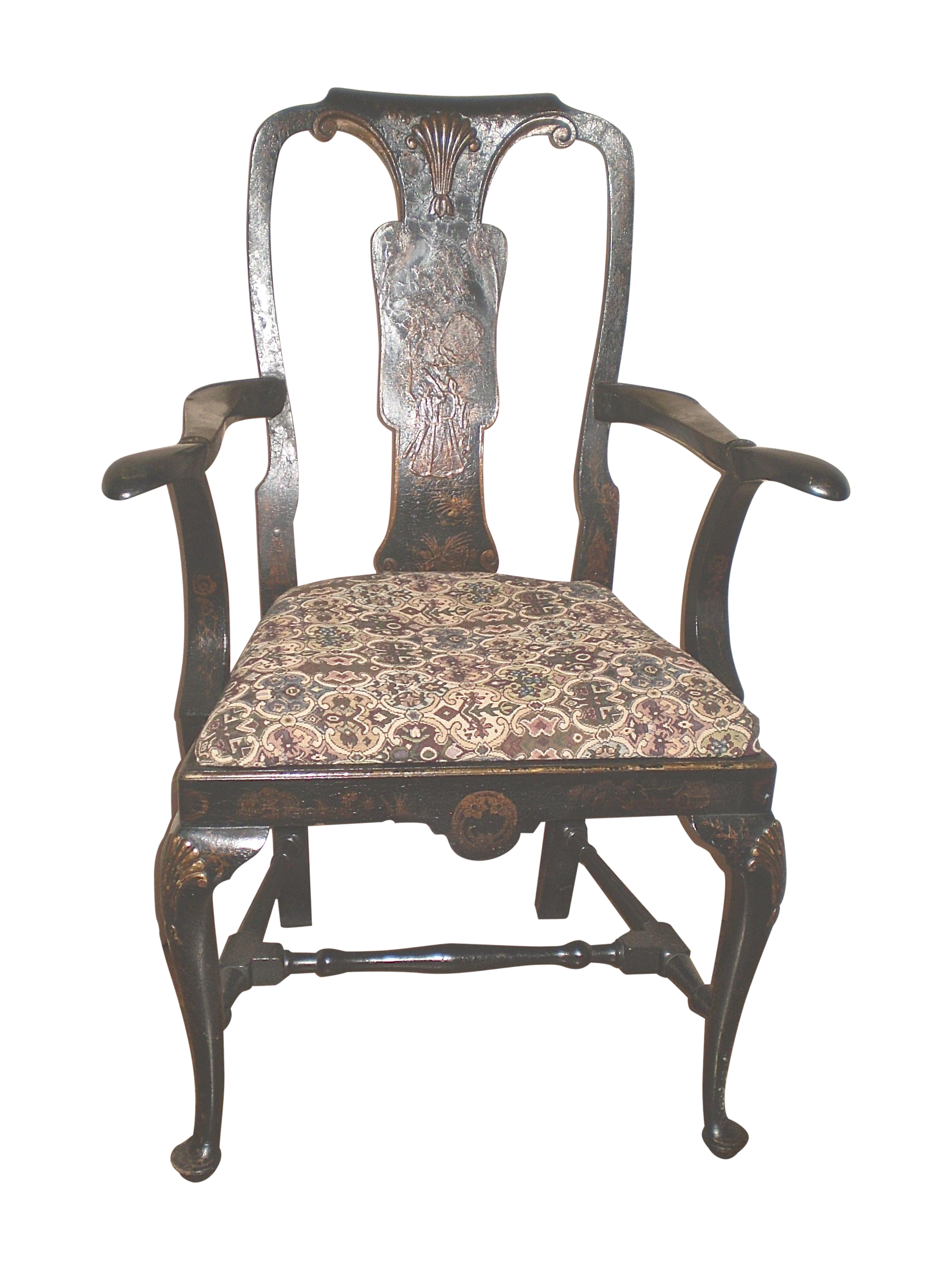 Antique Queen Anne Style Chair Chairish