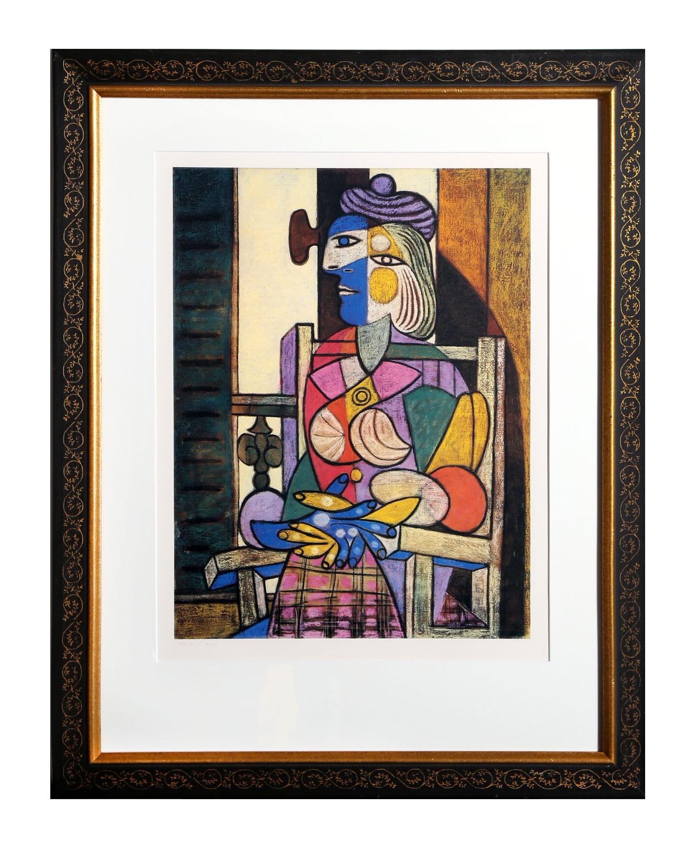 Pablo picasso femme assise devant sa fenetre chairish for Devant la fenetre