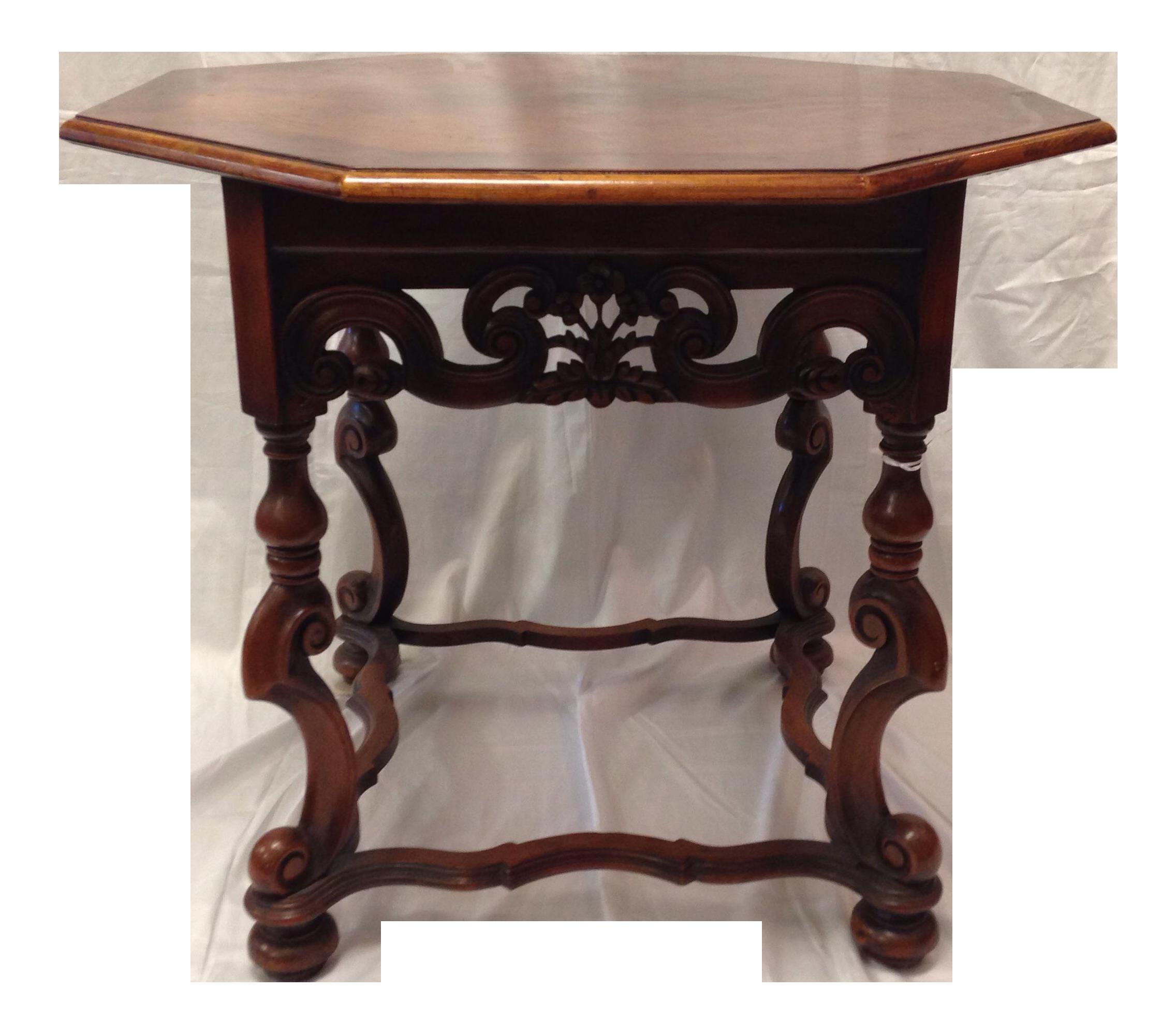 Mahogany Coffee Table: Octagon Mahogany Coffee Table