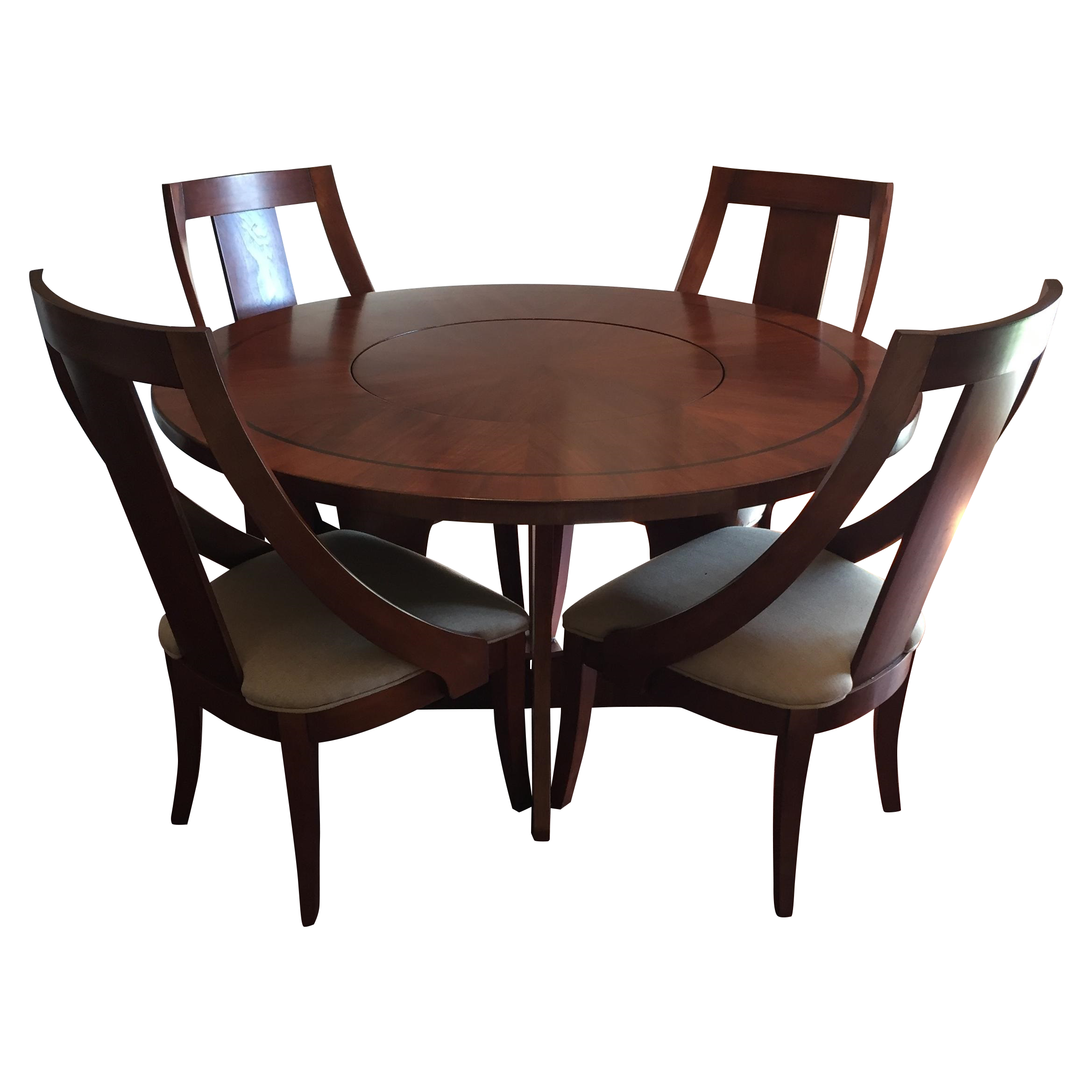 solid wood dining set chairish. Black Bedroom Furniture Sets. Home Design Ideas