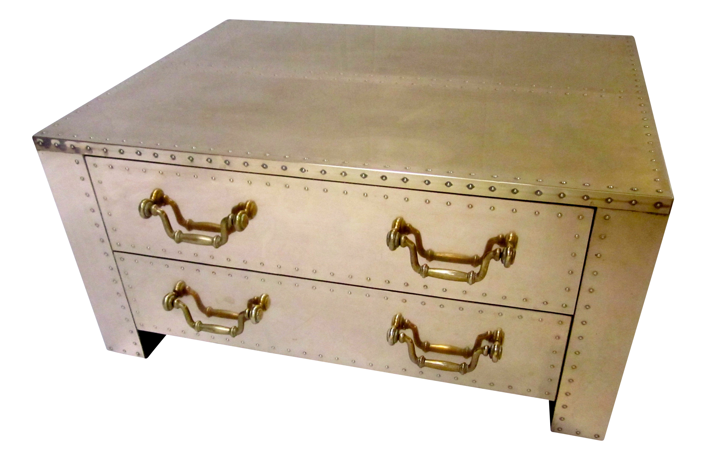 Sarreid Brass Chest Coffee Table